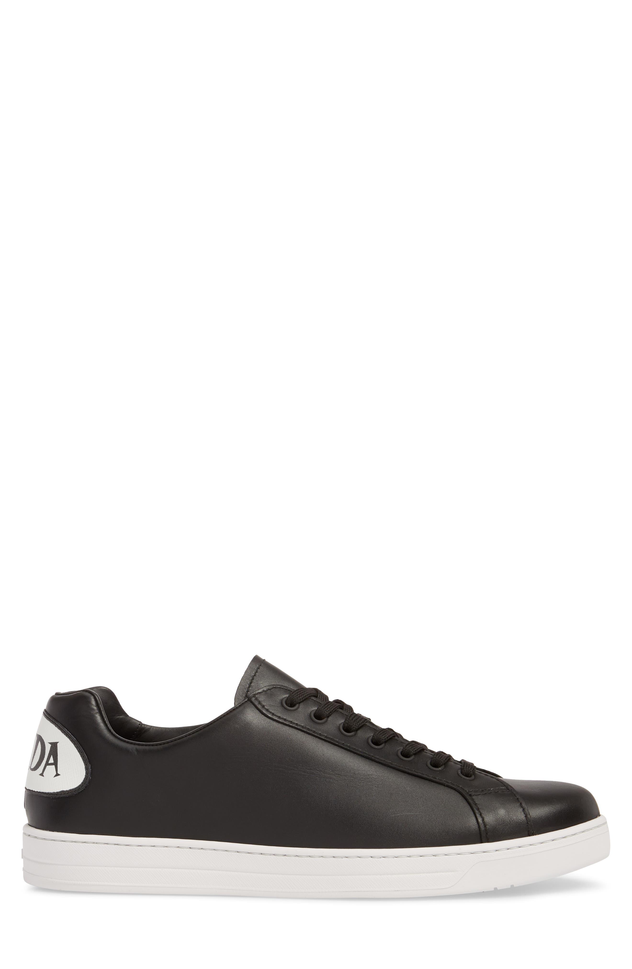 PRADA LINEA ROSSA,                             Patch Low Top Sneaker,                             Alternate thumbnail 3, color,                             012