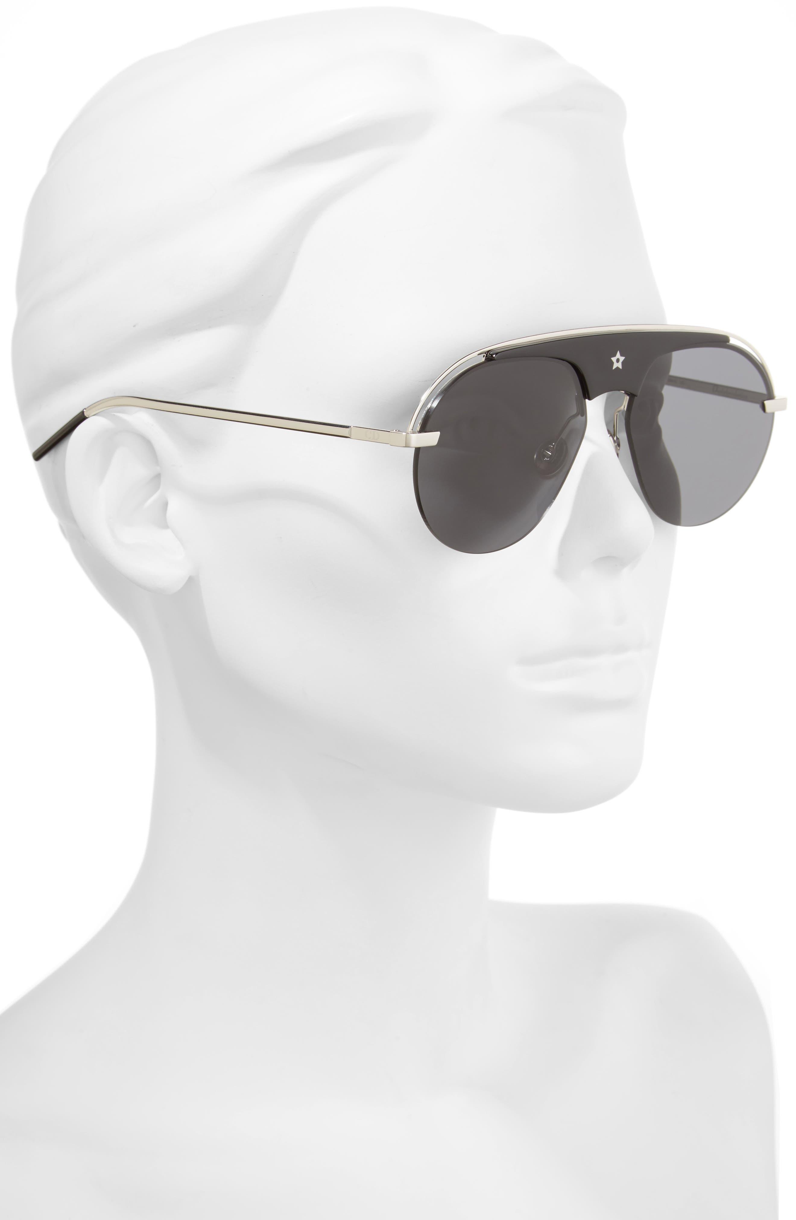 Revolution 58mm Aviator Sunglasses,                             Alternate thumbnail 2, color,                             001