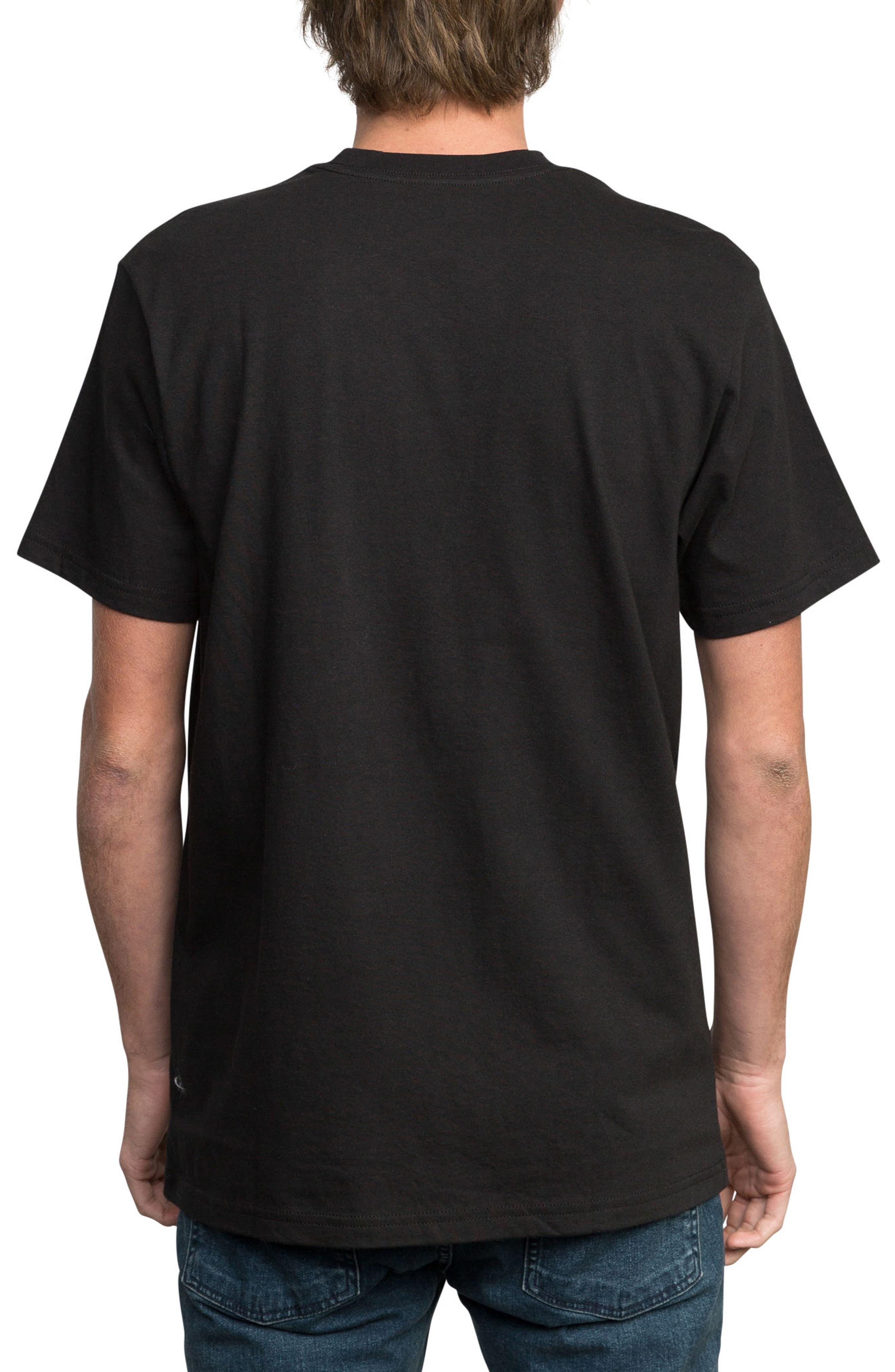 Modern Logo Graphic T-Shirt,                             Alternate thumbnail 2, color,                             BLACK