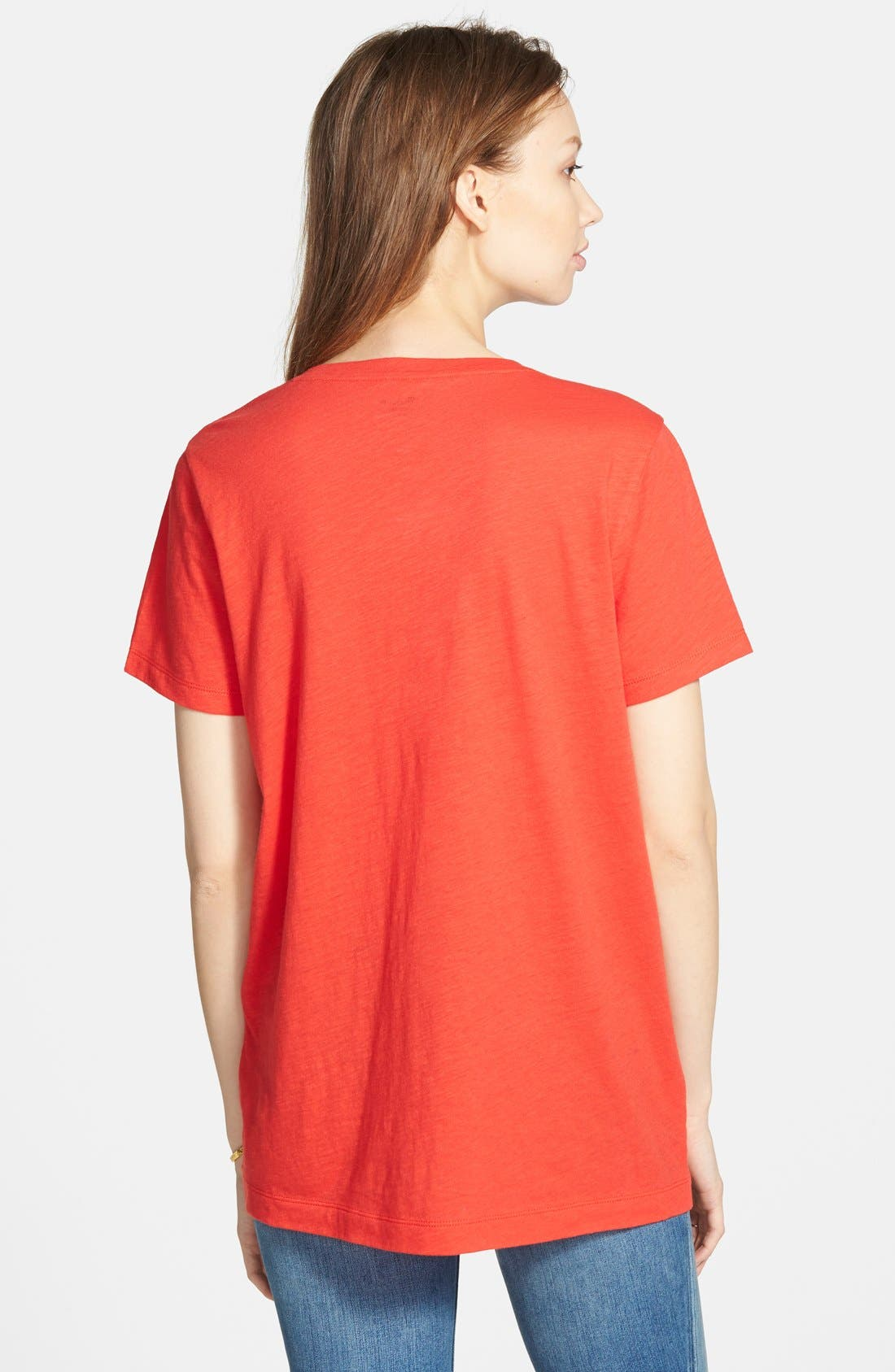 Whisper Cotton V-Neck Pocket Tee,                             Alternate thumbnail 71, color,