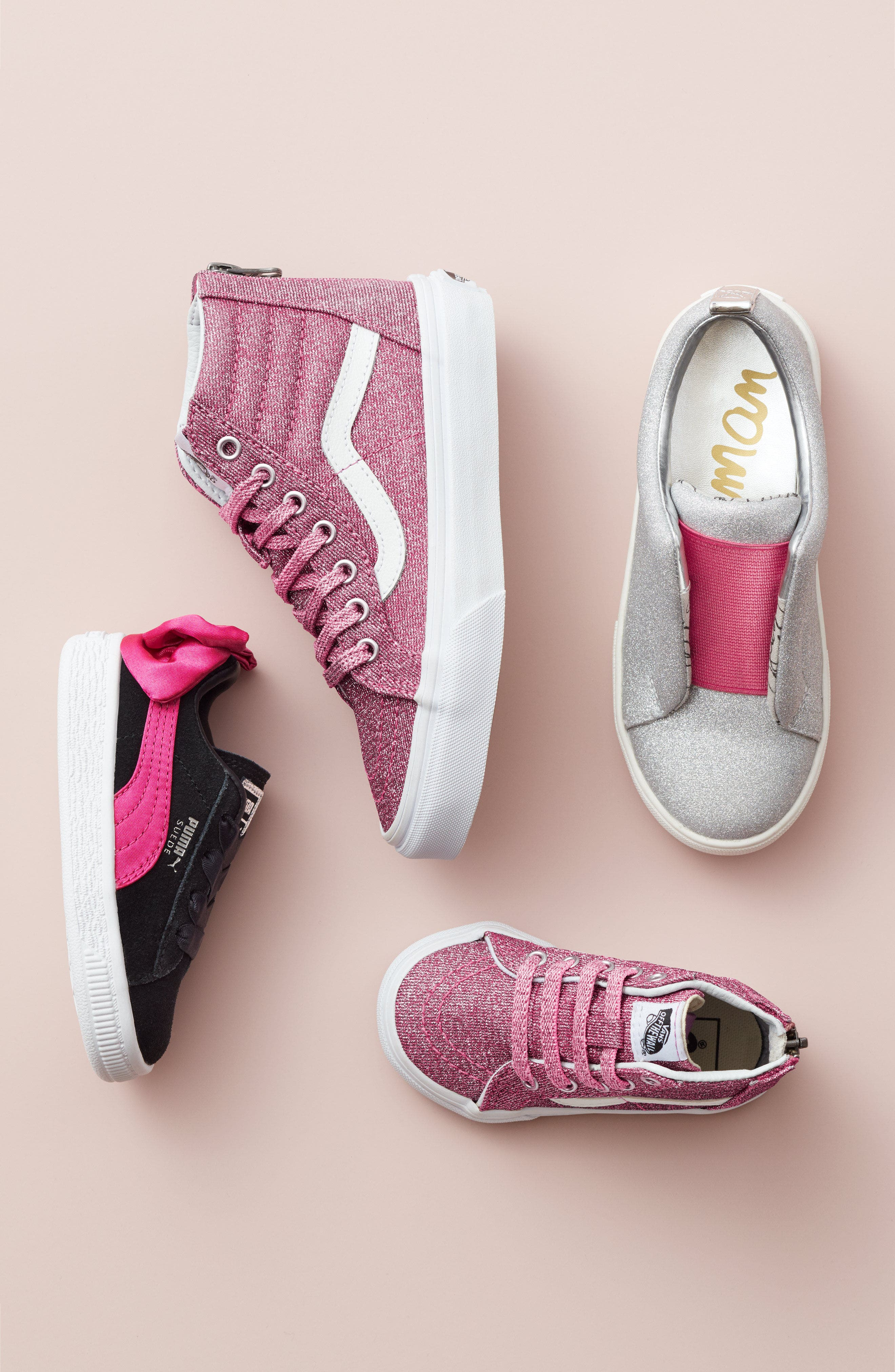 Bow Sneaker,                             Alternate thumbnail 7, color,                             BLACK/ BEETROOT PURPLE