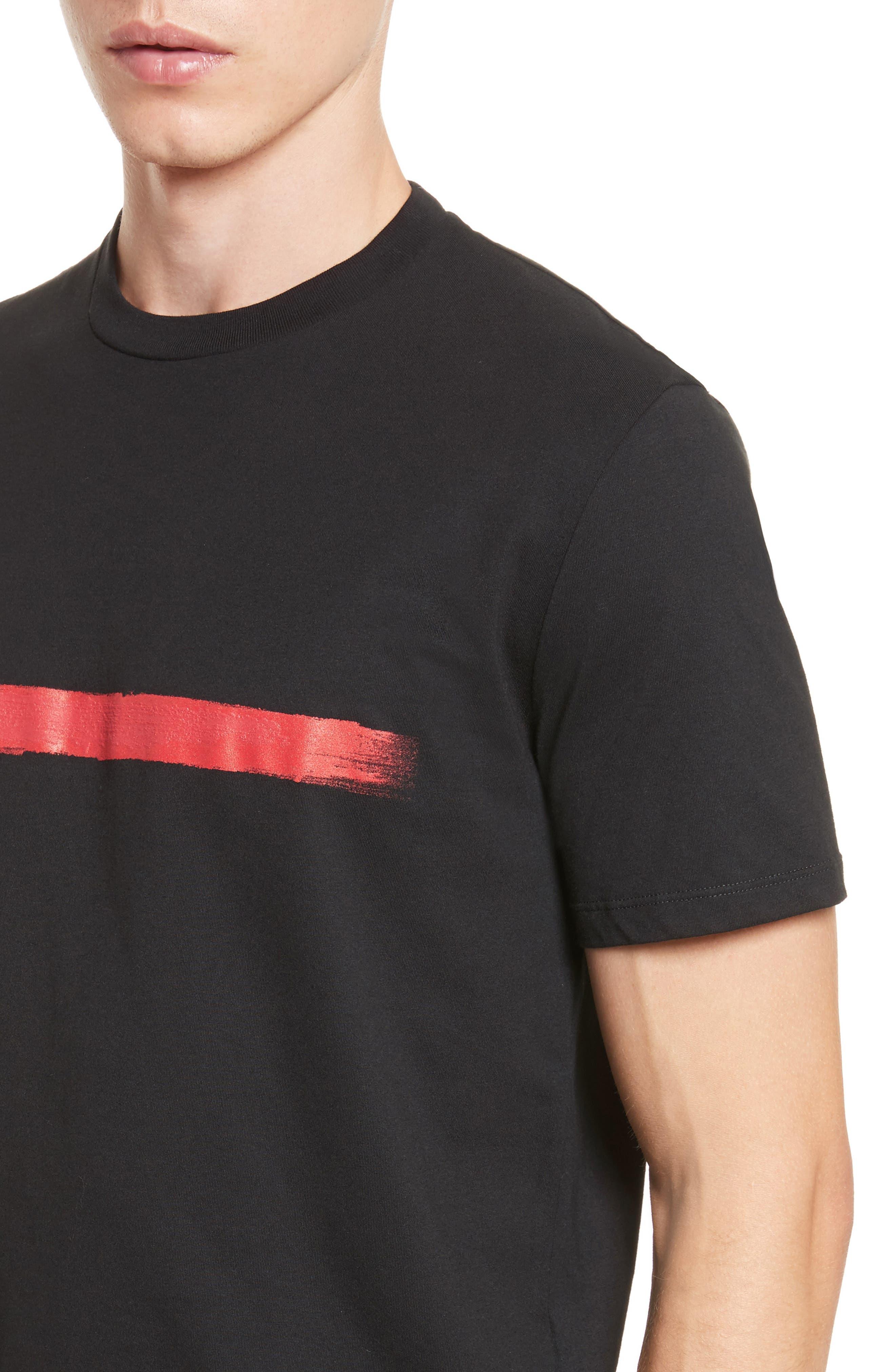 Brush Stroke Graphic T-Shirt,                             Alternate thumbnail 4, color,                             001