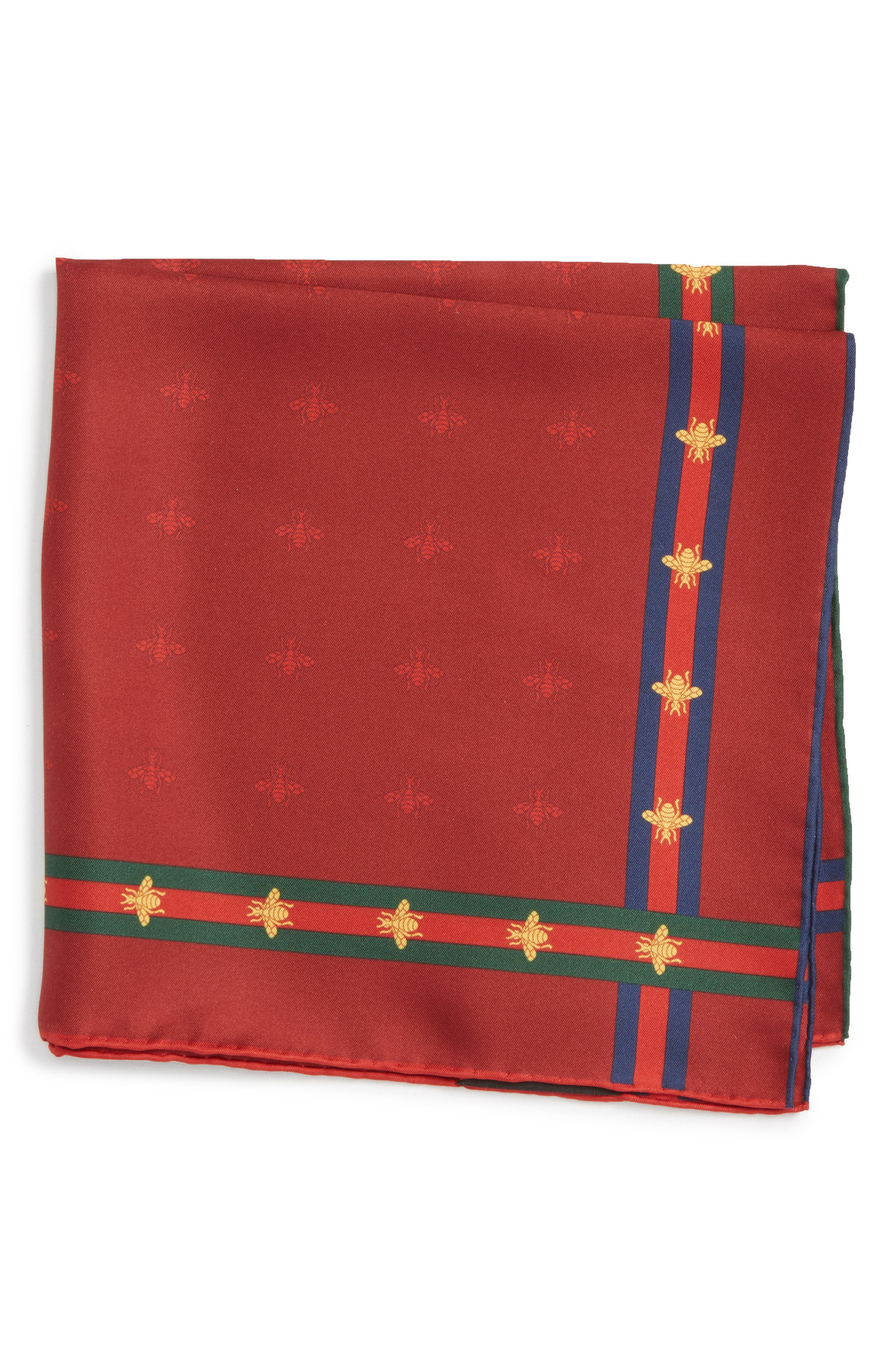 Runebis Silk Twill Pocket Square,                             Alternate thumbnail 8, color,