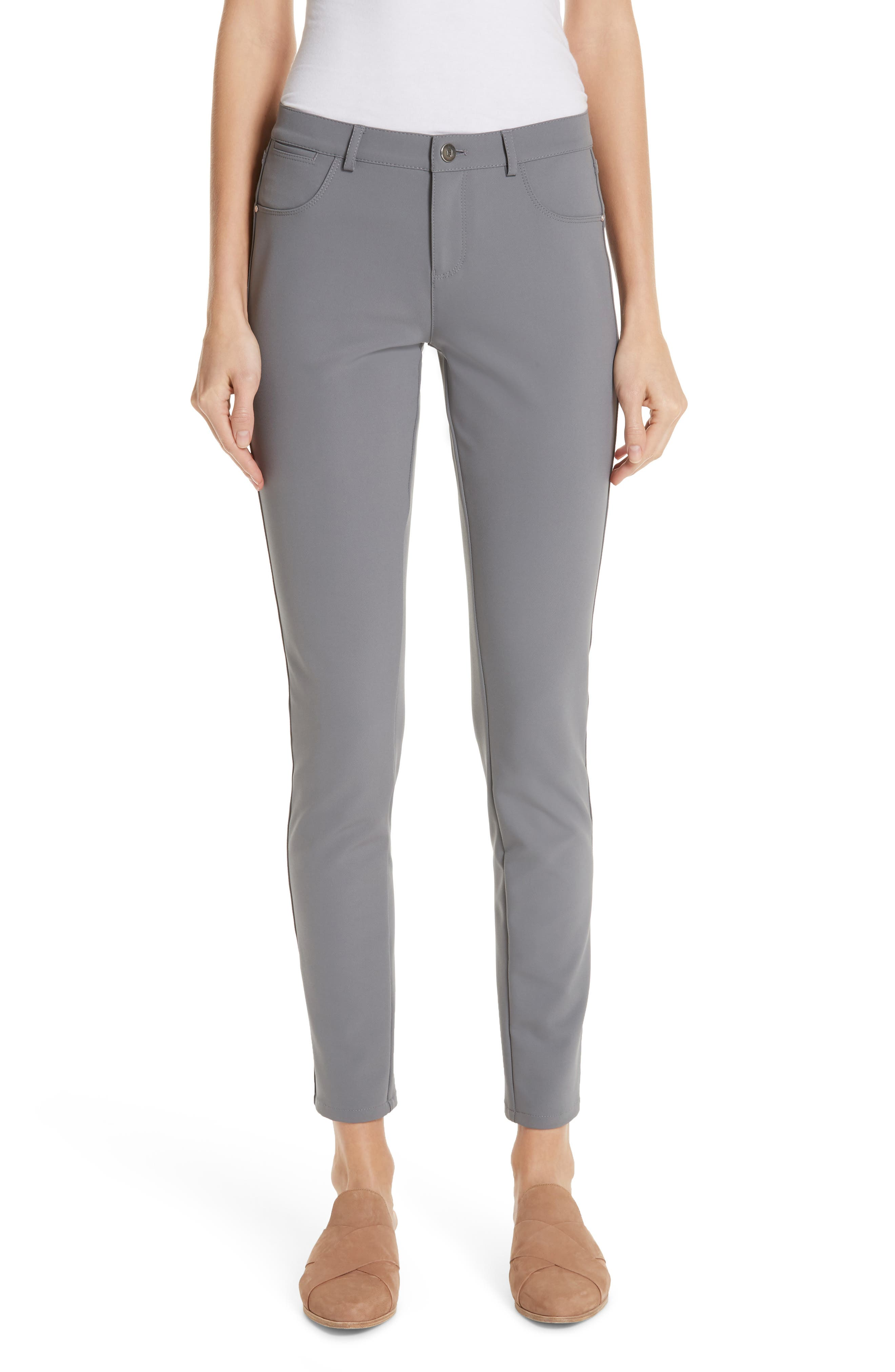 LAFAYETTE 148 NEW YORK,                             Mercer Acclaimed Stretch Skinny Pants,                             Main thumbnail 1, color,                             CINDER