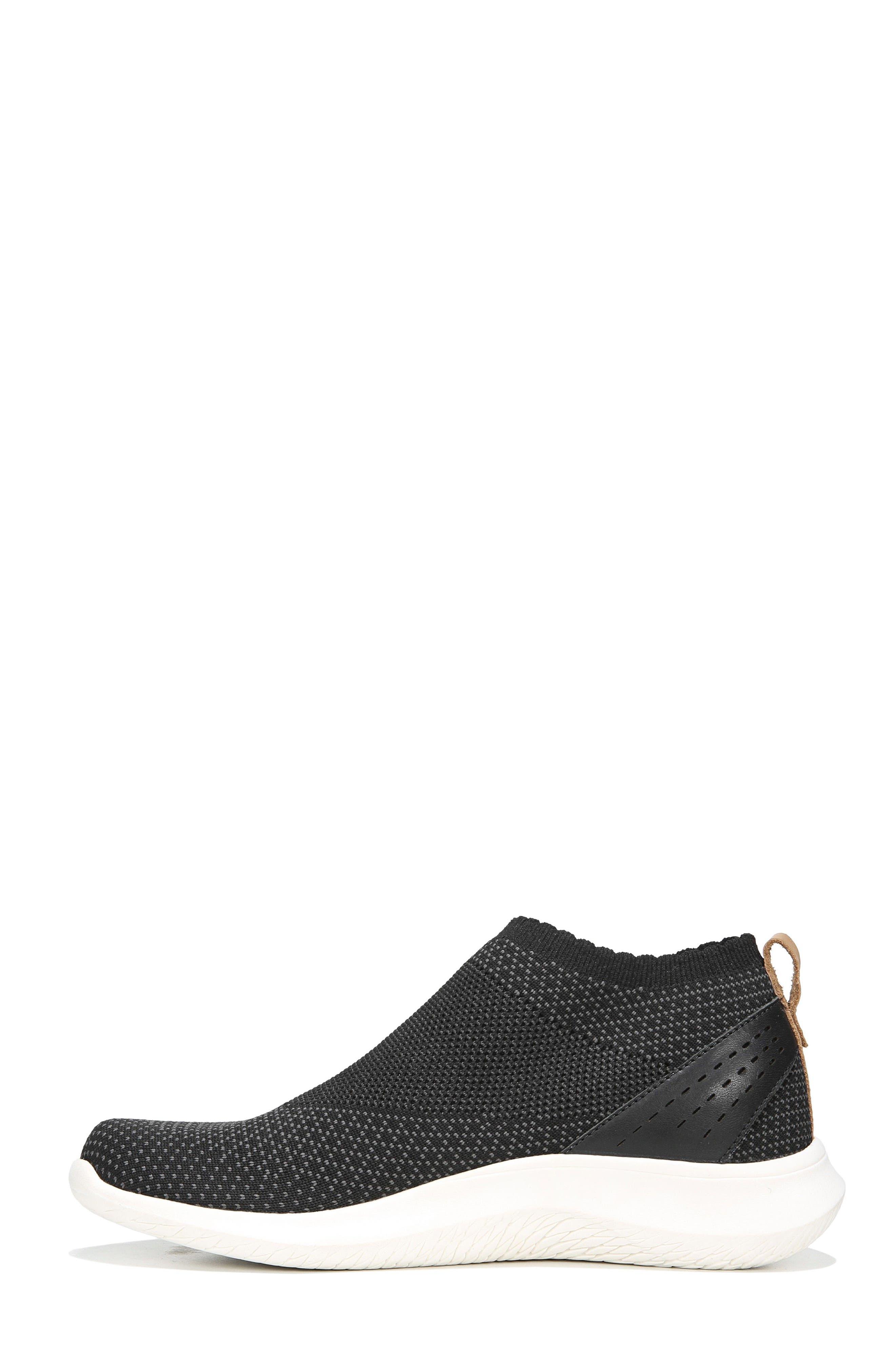 Fierce Knit Slip-On Sneaker,                             Alternate thumbnail 3, color,                             BLACK KNIT FABRIC