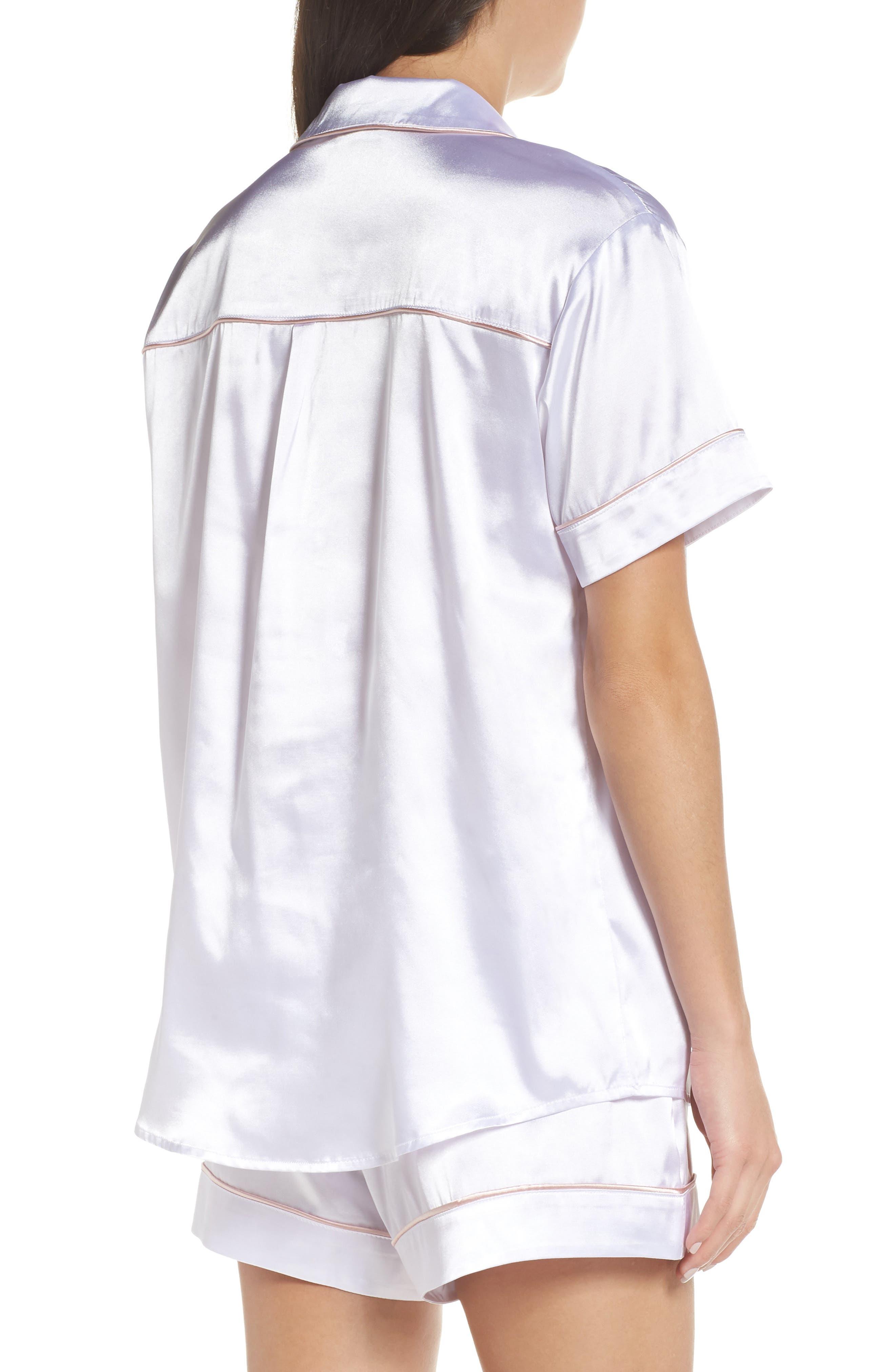 Bride Short Satin Pajamas,                             Alternate thumbnail 2, color,                             100