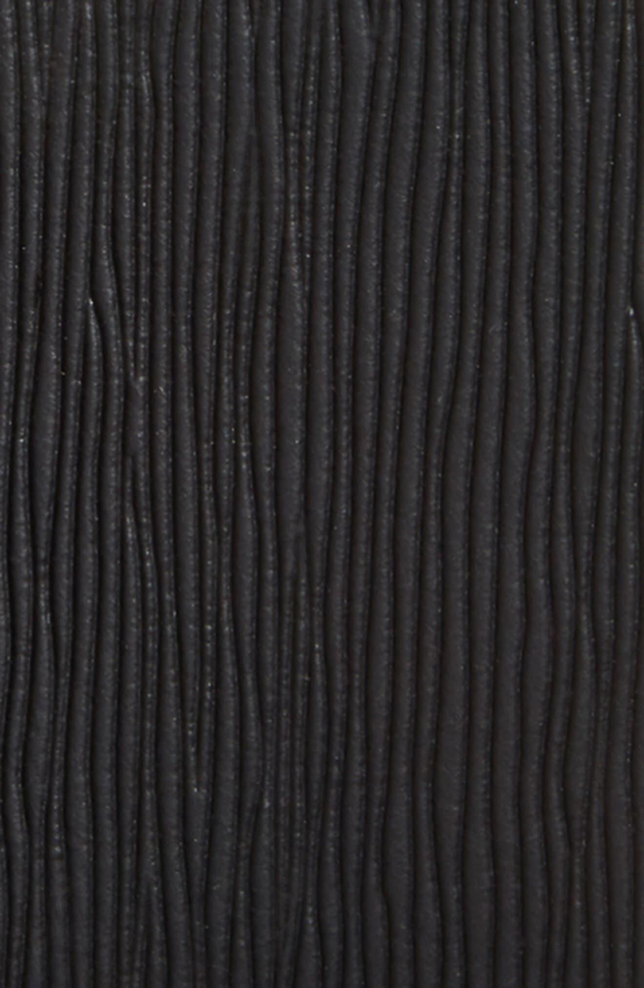 Saffiano Leather Belt,                             Alternate thumbnail 3, color,                             001