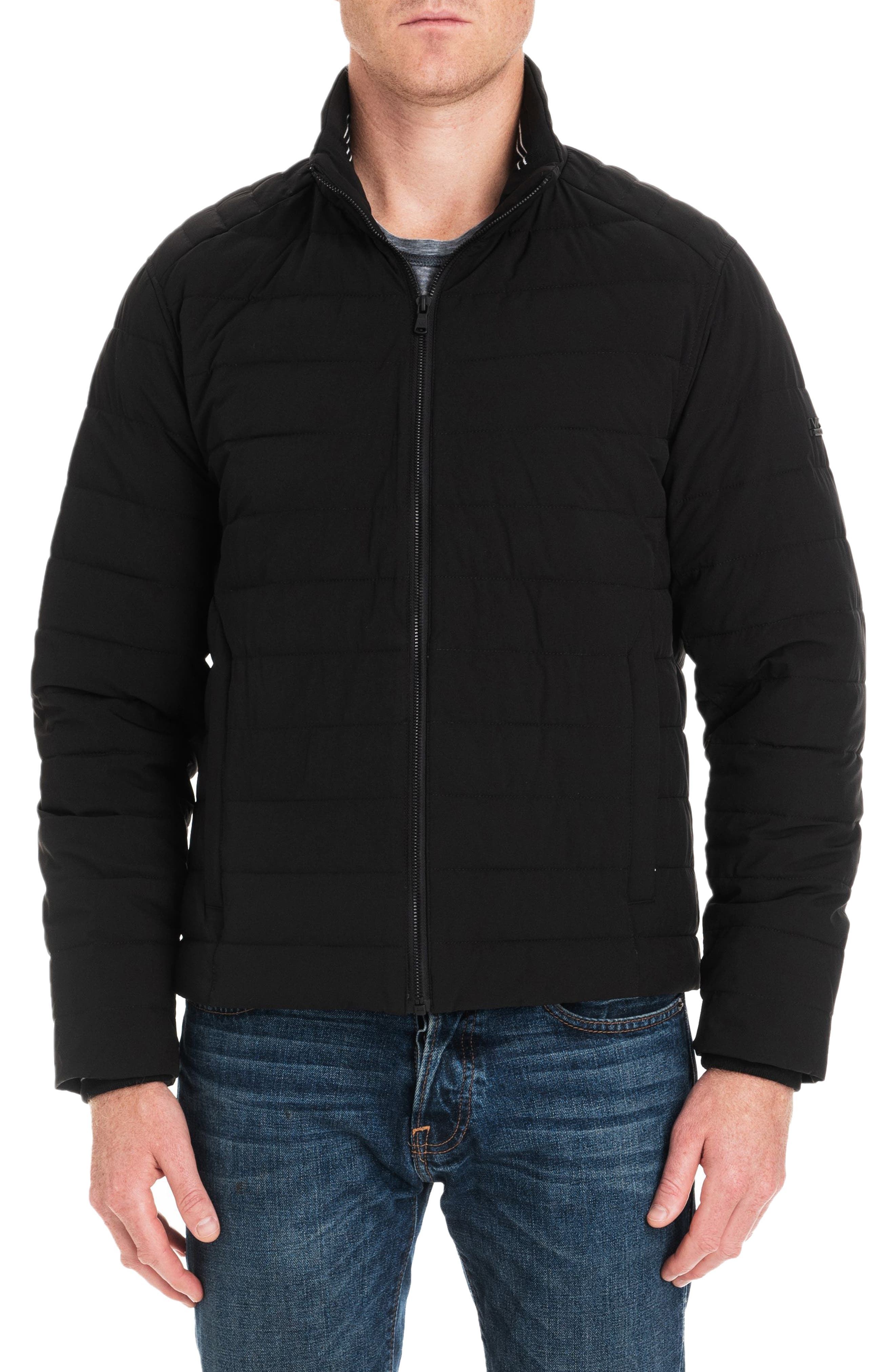Fulton Quilted Jacket,                         Main,                         color, BLACK/ MIDNIGHT
