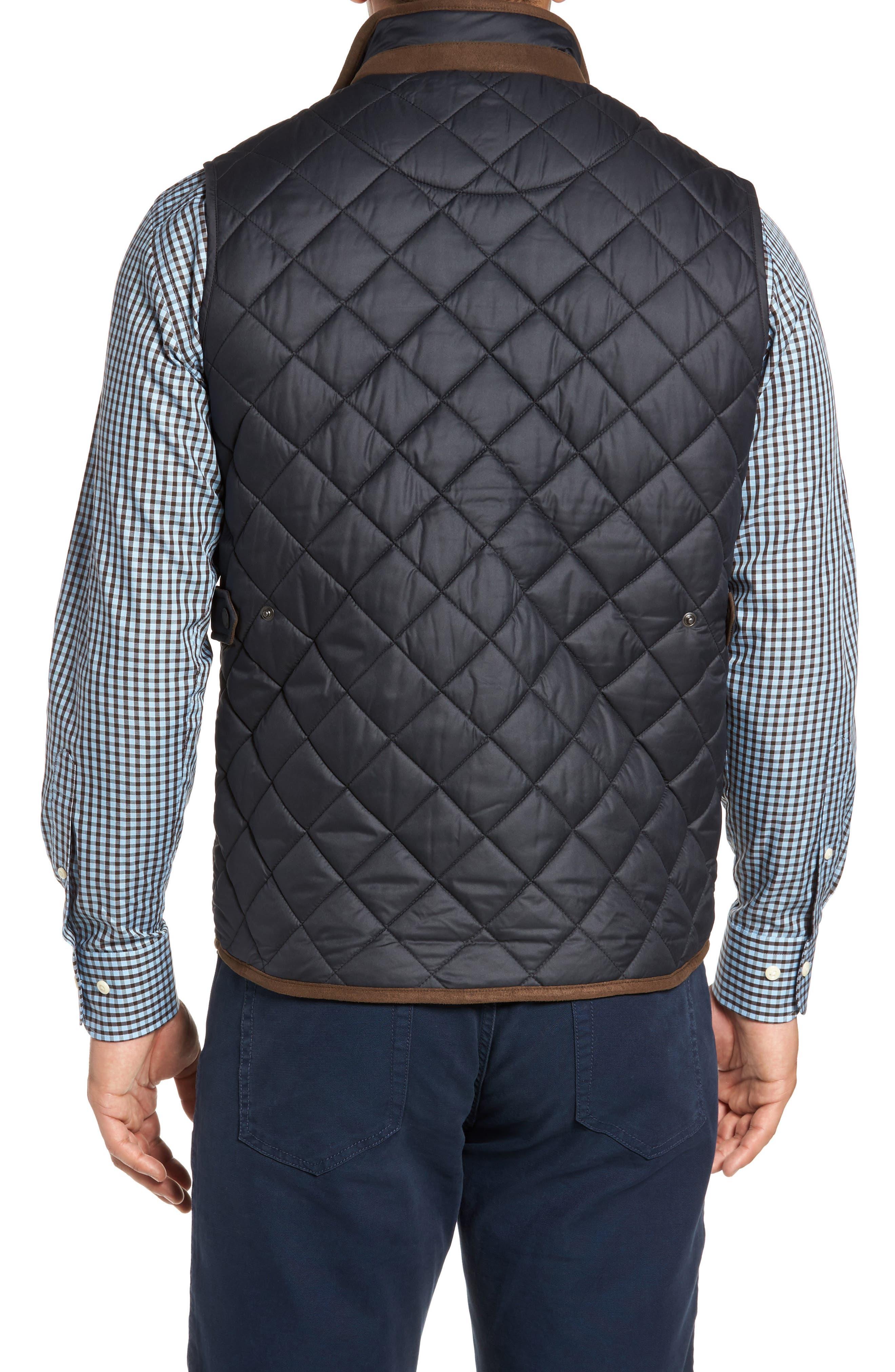 Essex Quilted Vest,                             Alternate thumbnail 2, color,                             BLACK / BLACK
