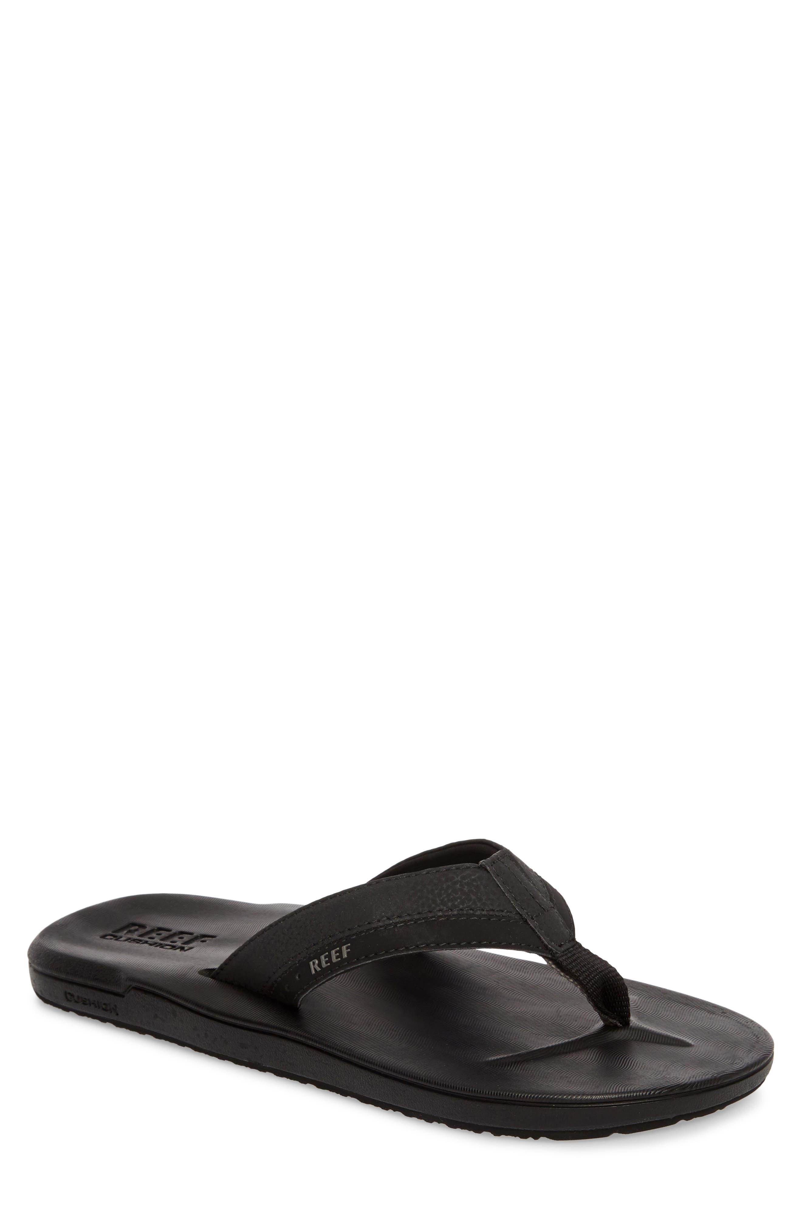 Contoured Cushion Flip Flop,                         Main,                         color, BLACK