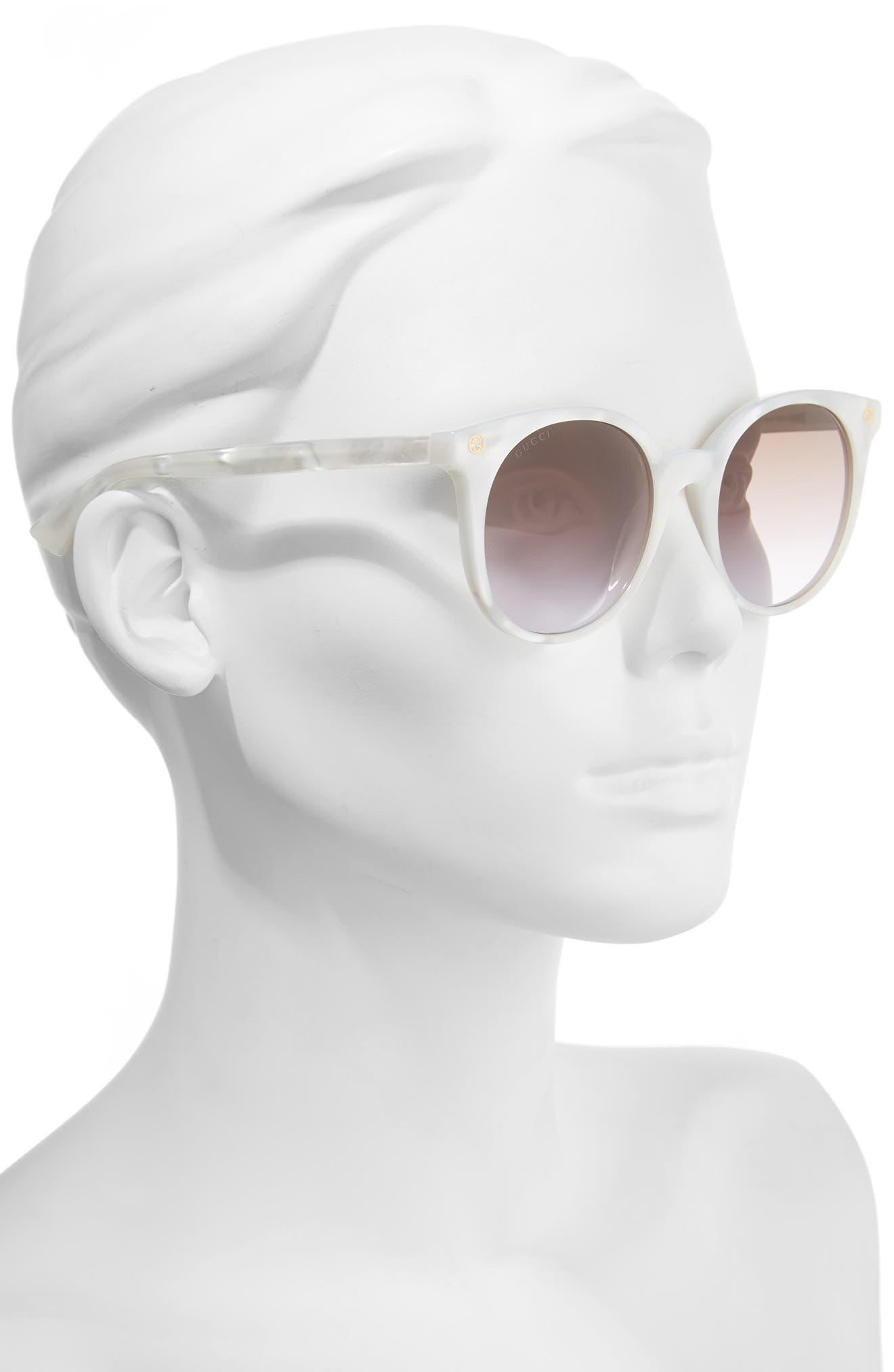 52mm Round Sunglasses,                             Alternate thumbnail 6, color,
