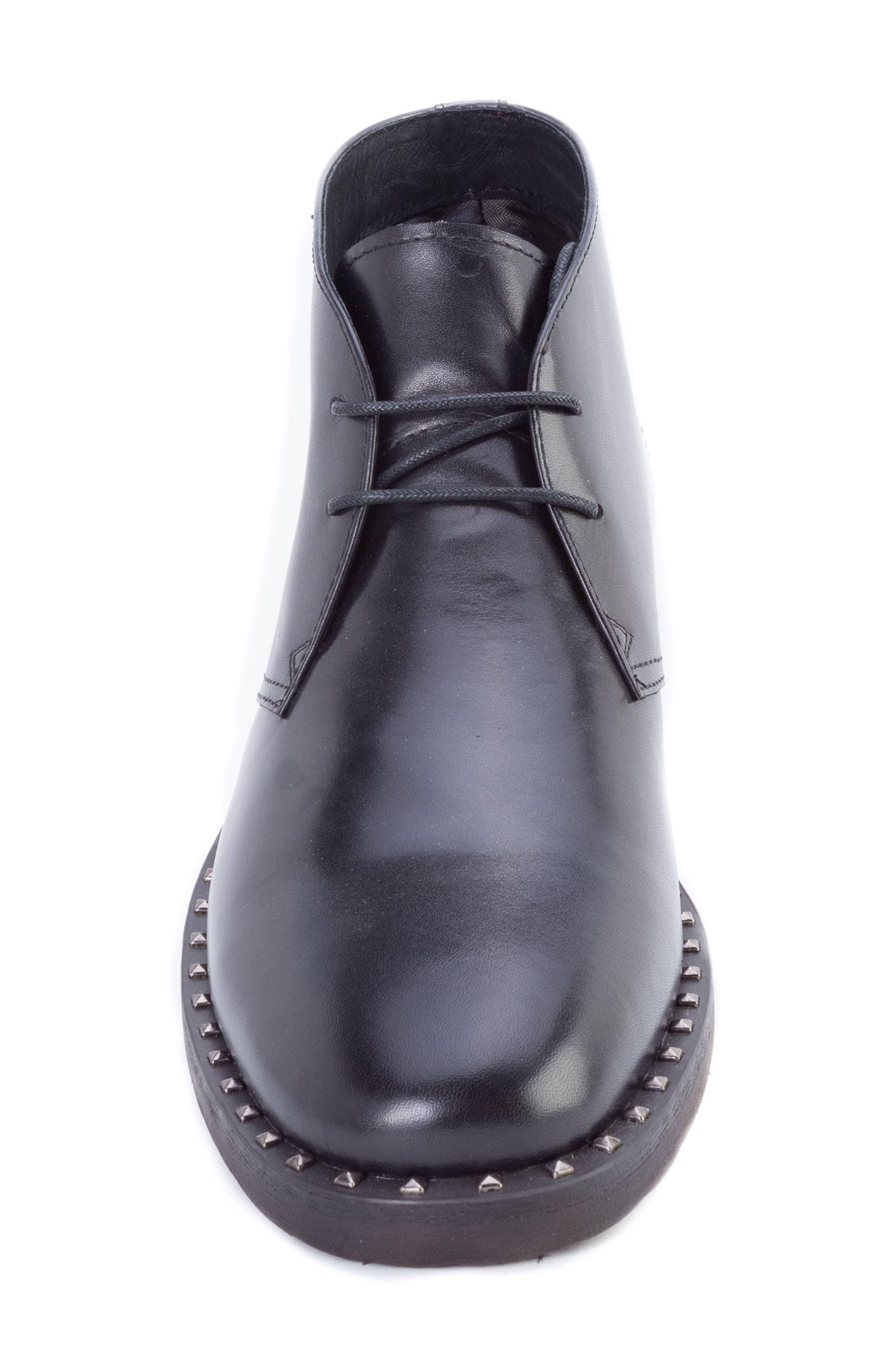 Norrie Studded Chukka Boot,                             Alternate thumbnail 5, color,                             BLACK LEATHER