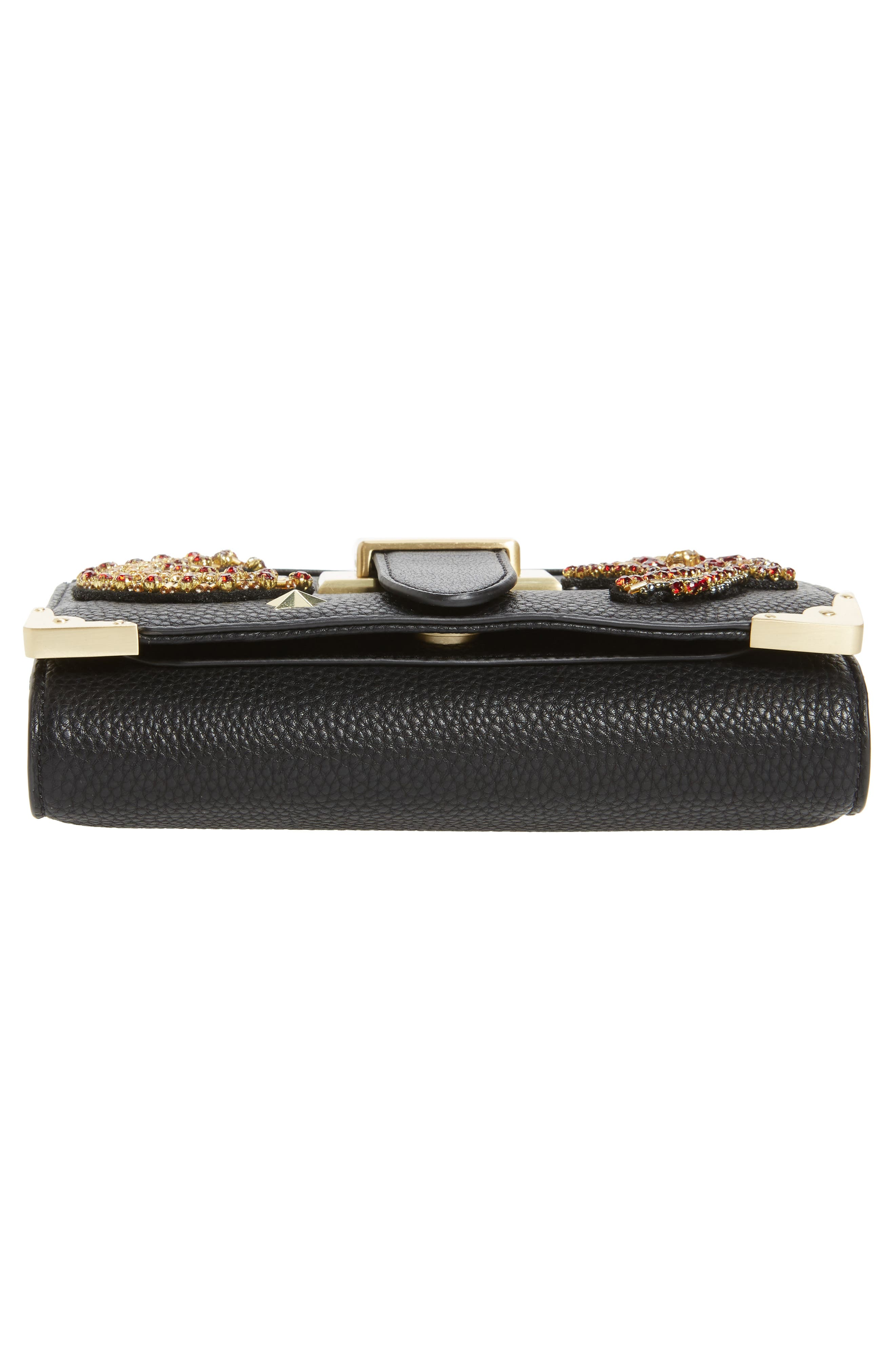 Florence Faux Leather Clutch Wallet,                             Alternate thumbnail 6, color,                             001