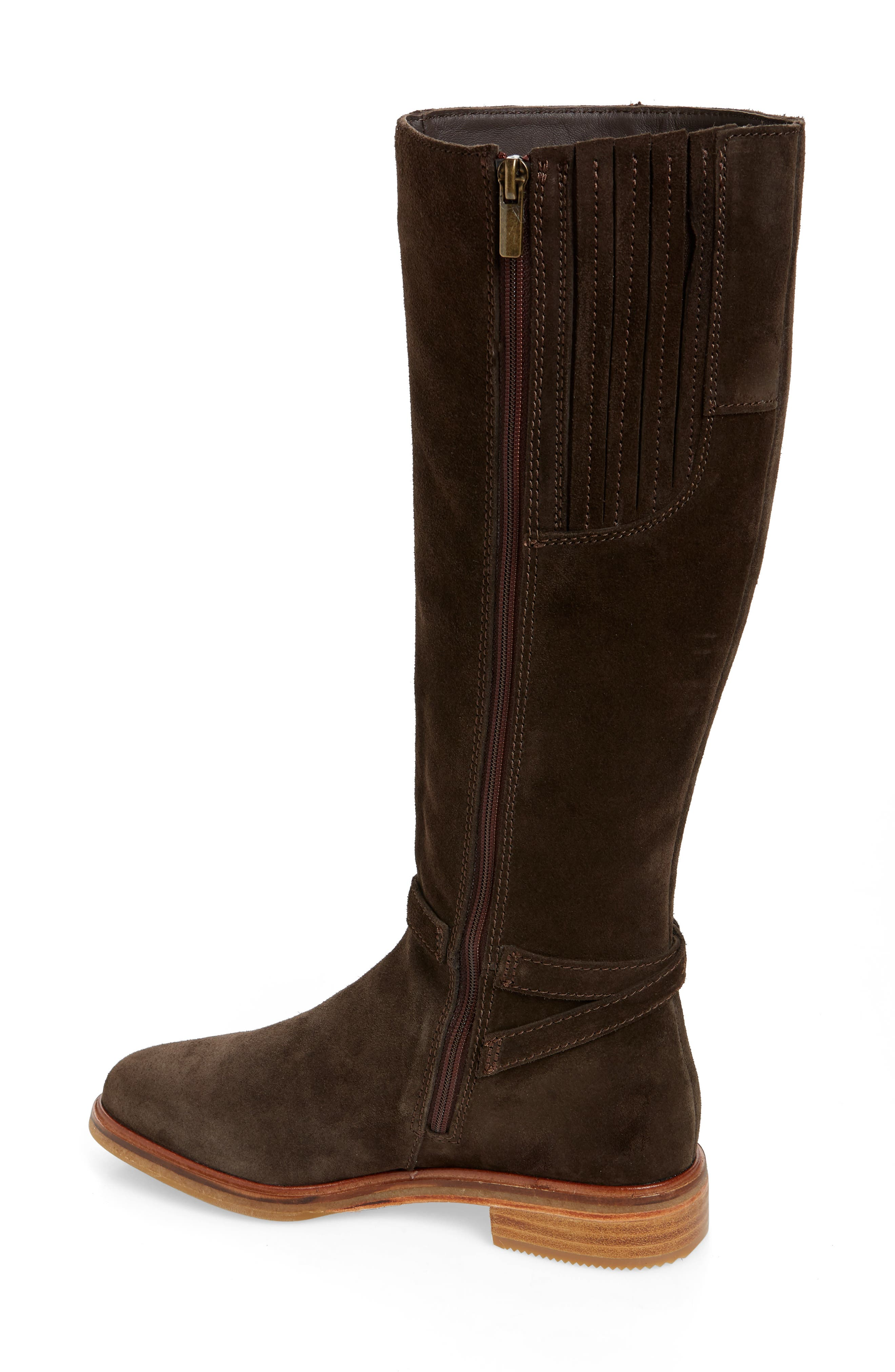 Clarkdale Clad Boot,                             Alternate thumbnail 2, color,                             BROWN SUEDE