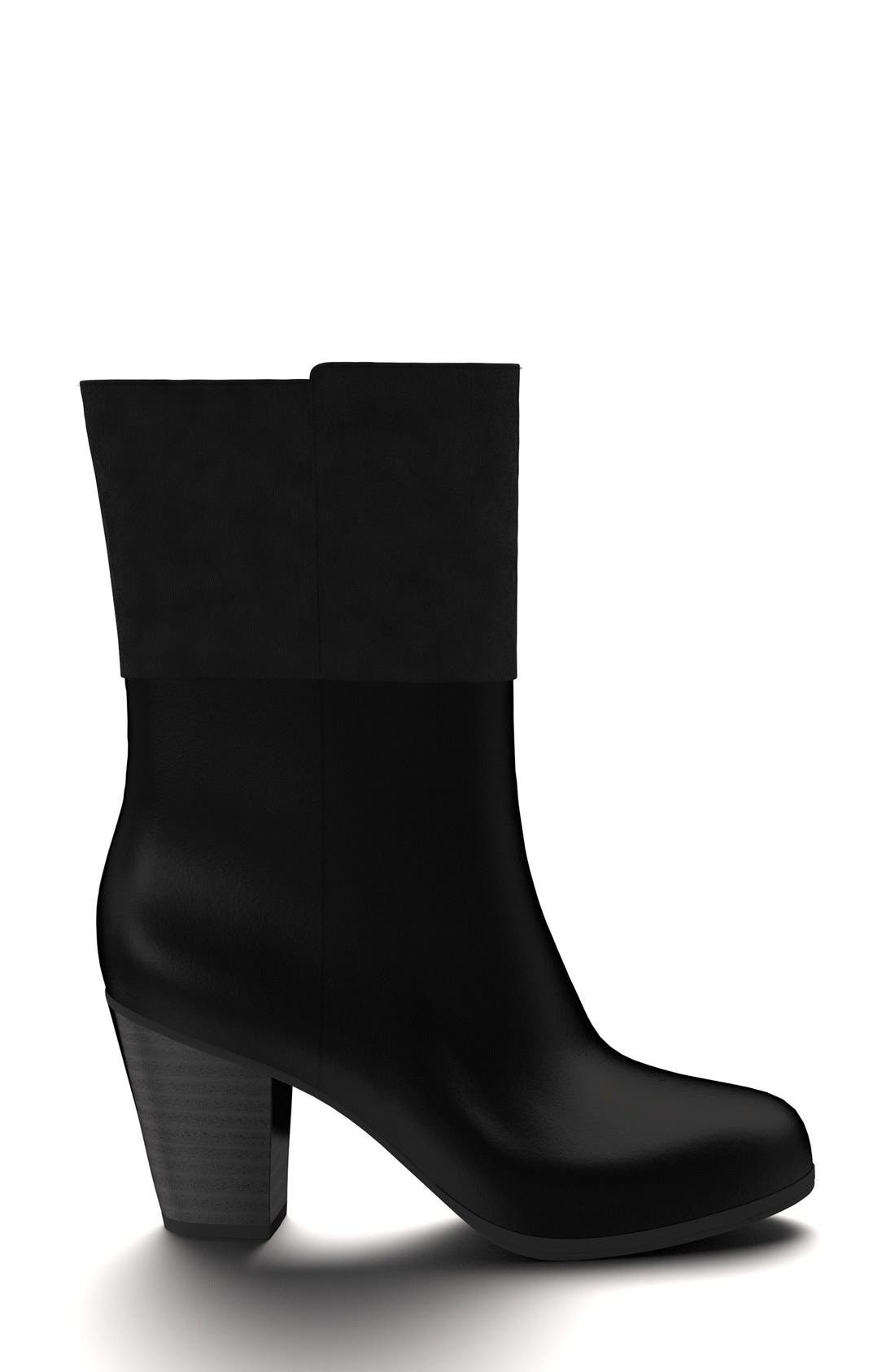 Block Heel Boot,                             Alternate thumbnail 3, color,                             001