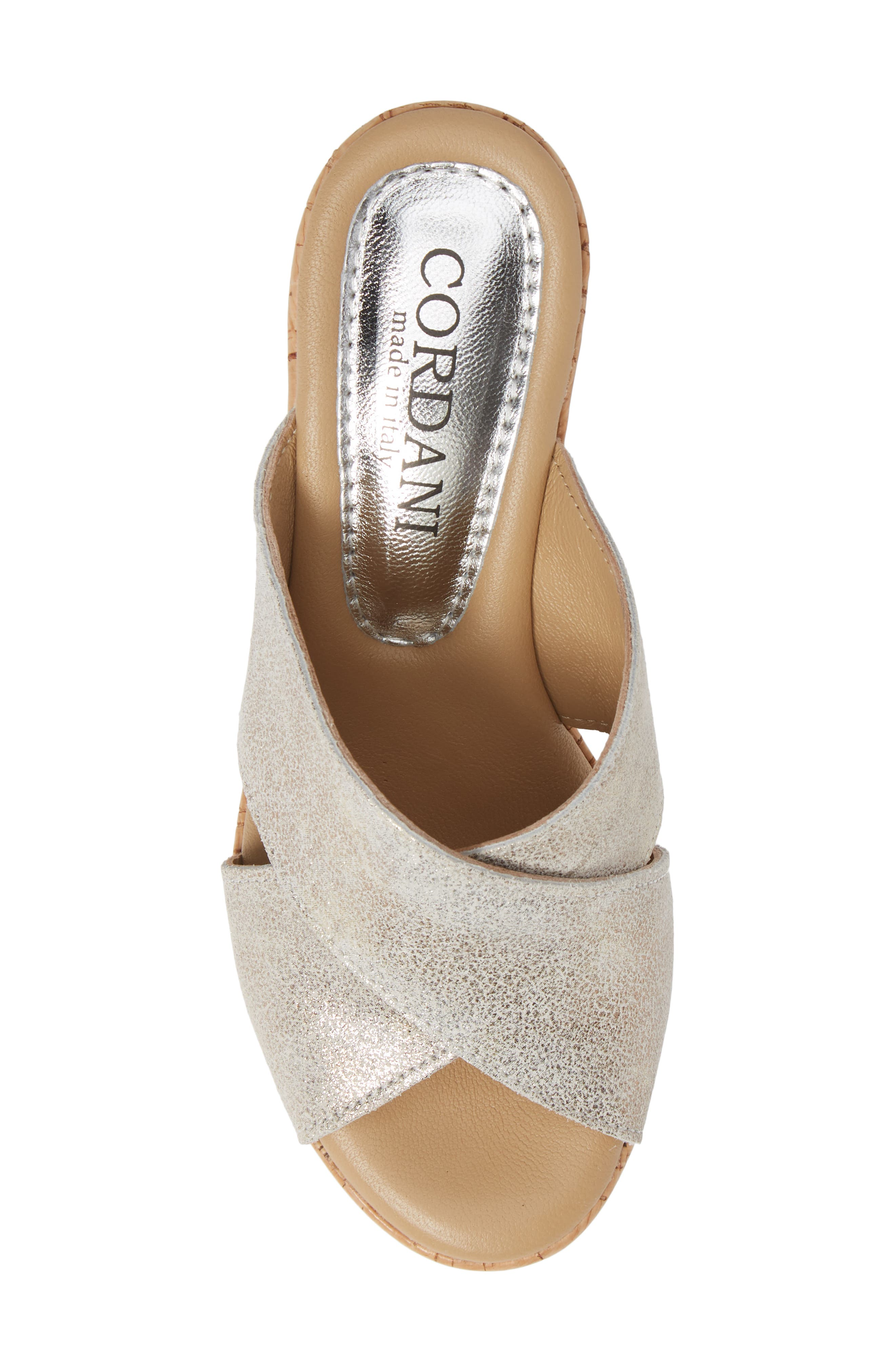 Jan Platform Wedge Slide Sandal,                             Alternate thumbnail 5, color,                             PEARL SUEDE