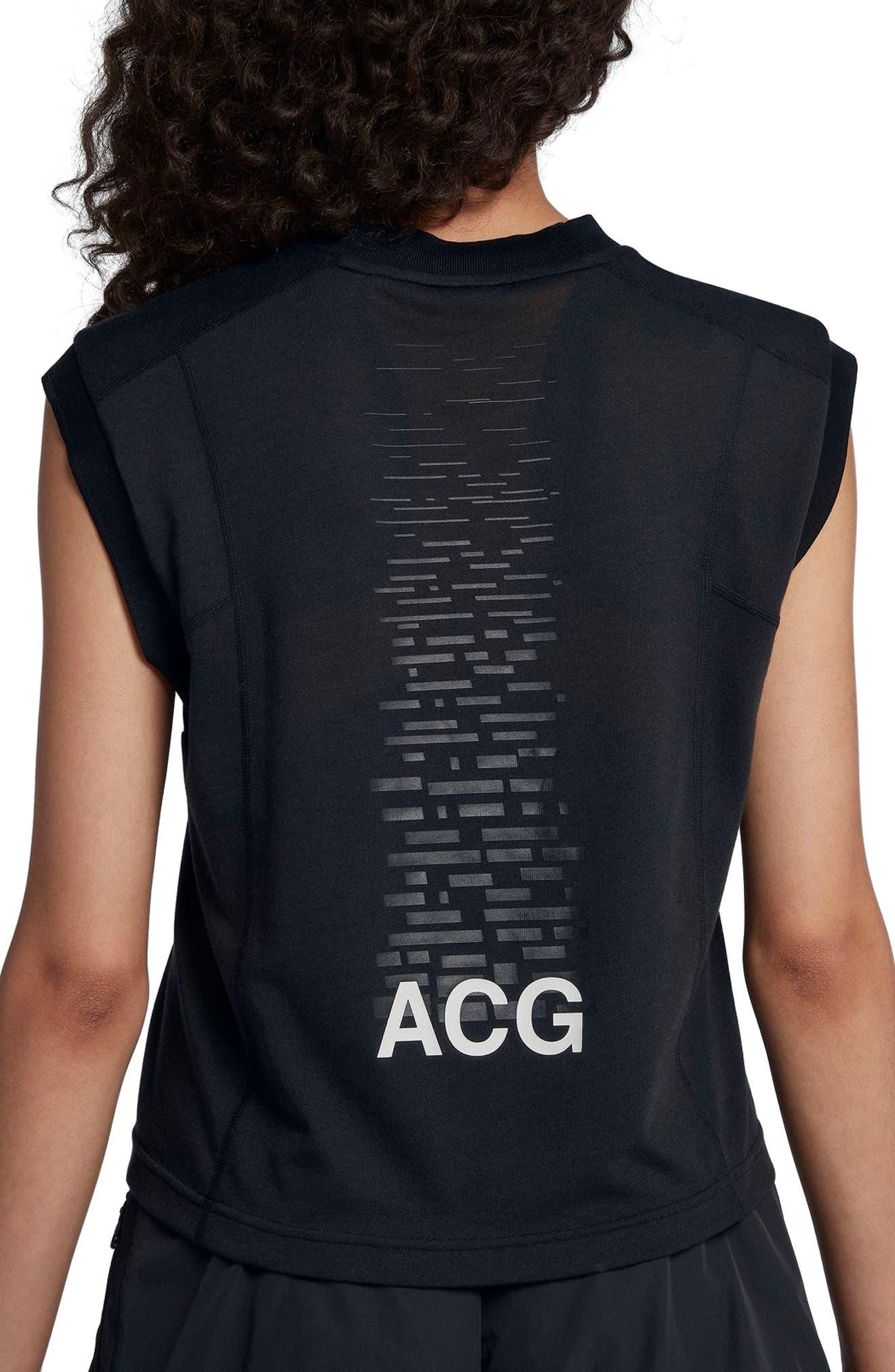 NIKE,                             NikeLab ACG Women's Sleeveless Top,                             Alternate thumbnail 2, color,                             010