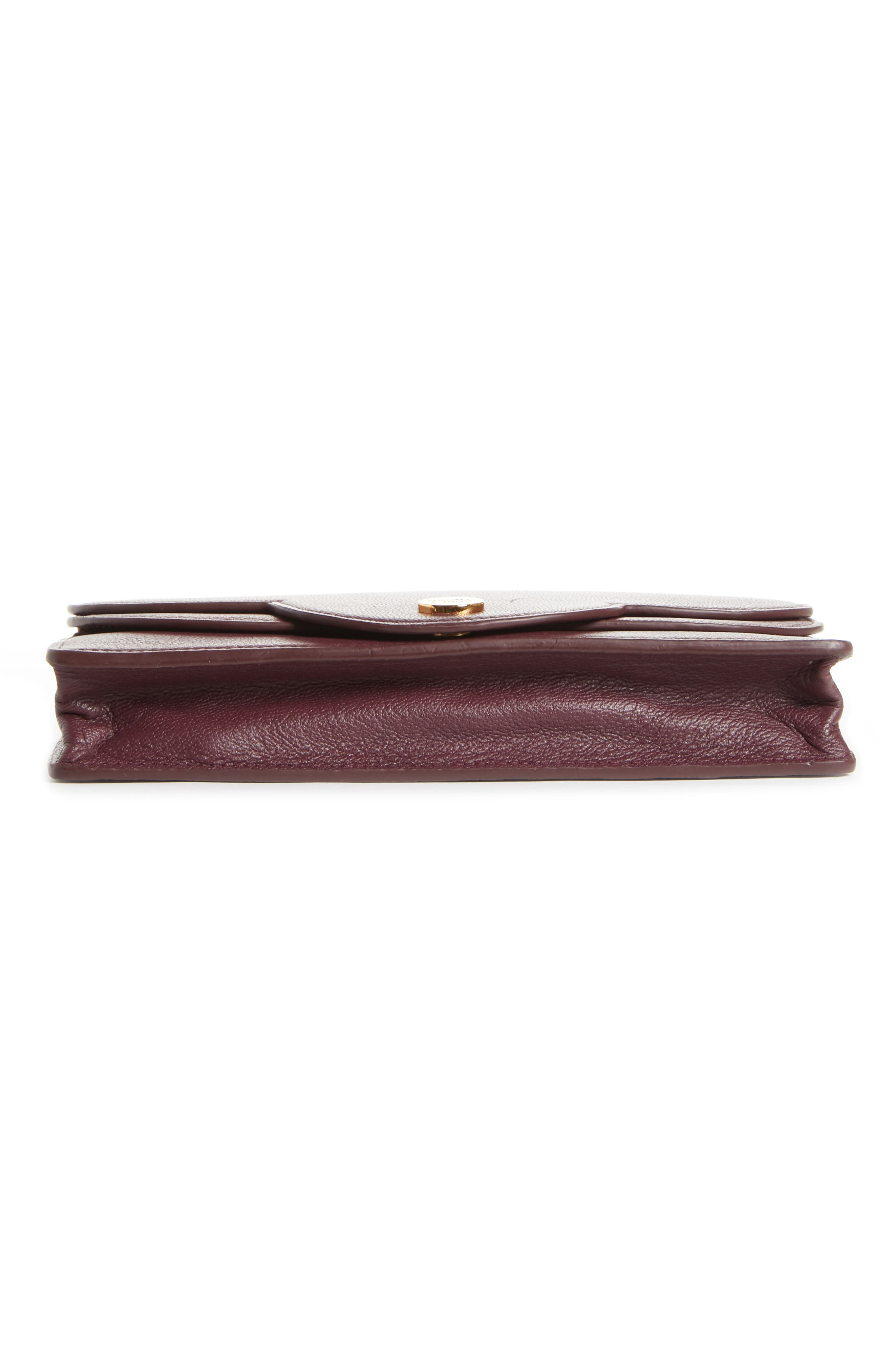 Polina Leather Wallet on a Chain,                             Alternate thumbnail 6, color,                             OBSCURE PURPLE