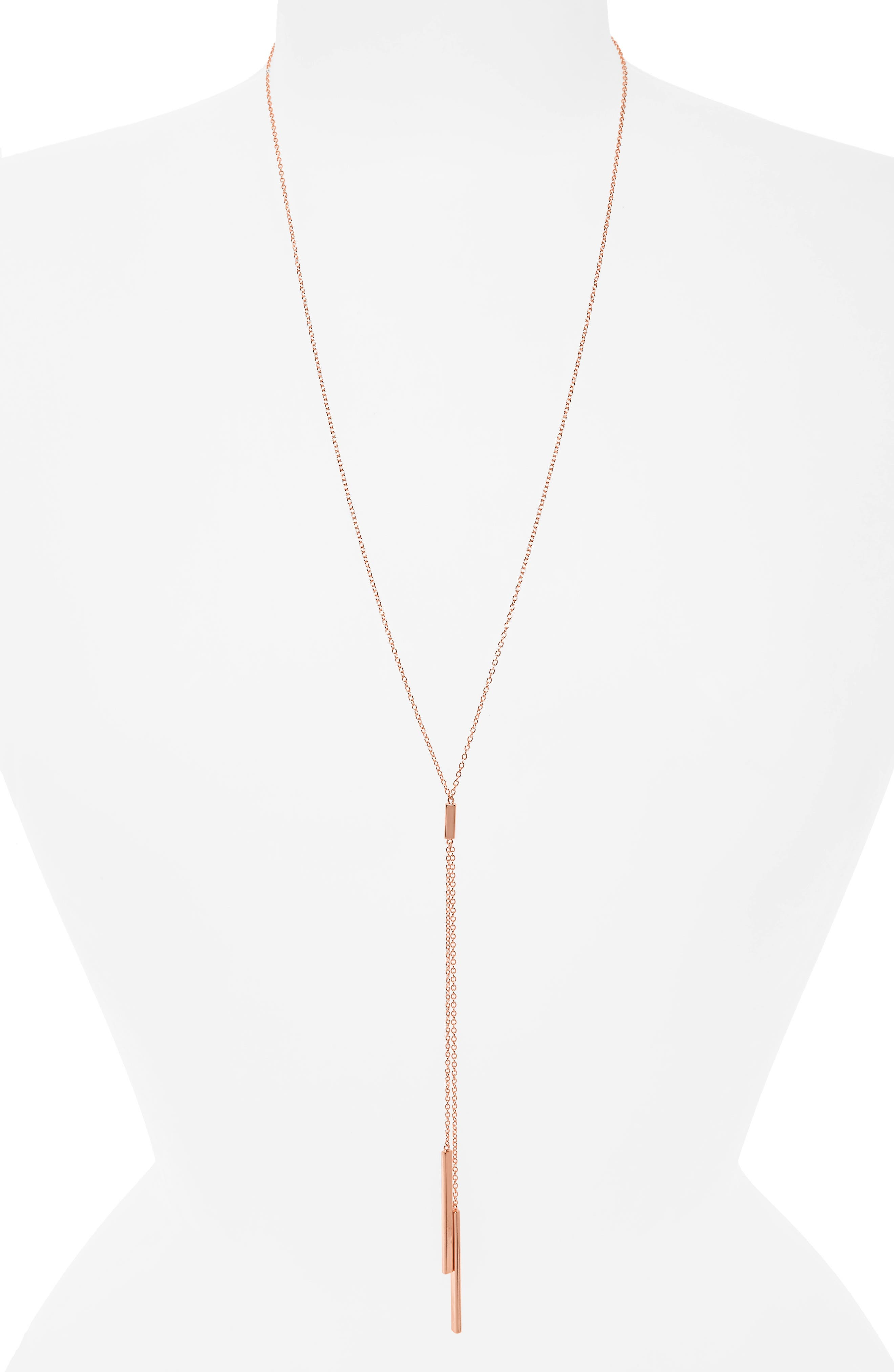 'Mave' Lariat Necklace,                             Alternate thumbnail 2, color,                             ROSE GOLD
