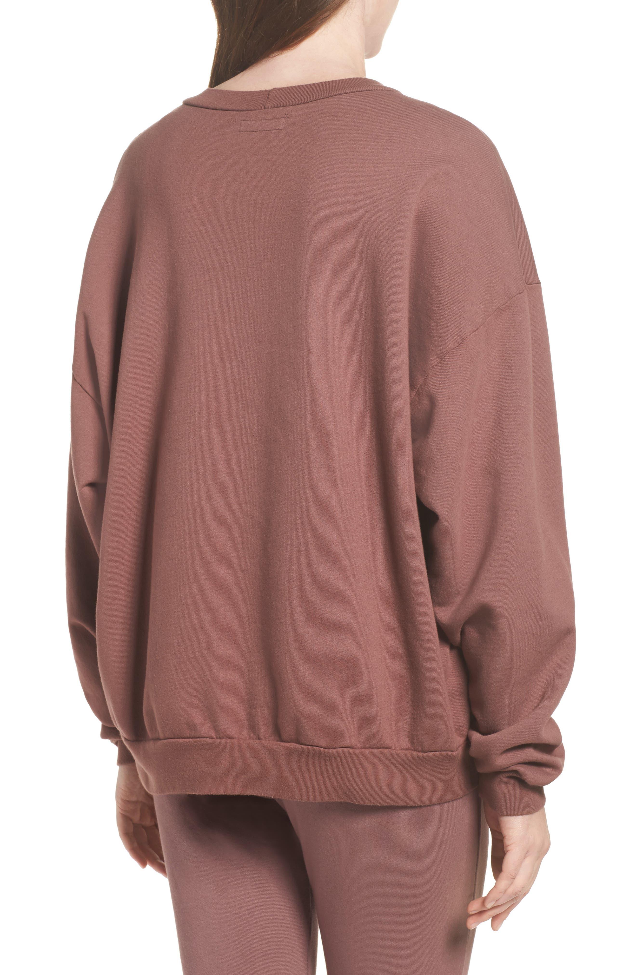 Ellstan Oversize Boyfriend Sweatshirt,                             Alternate thumbnail 4, color,