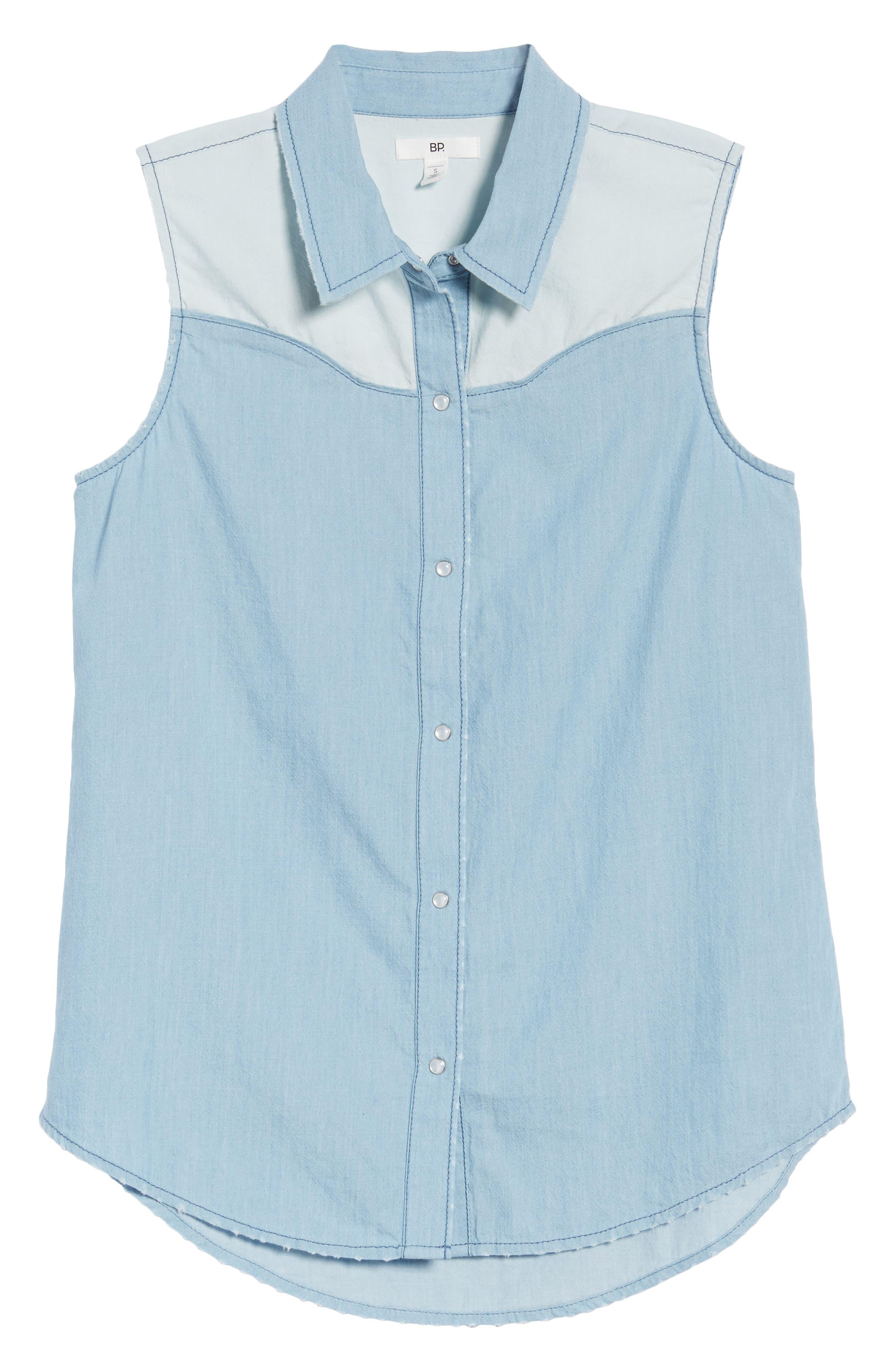 Chambray Western Shirt,                             Alternate thumbnail 7, color,                             450