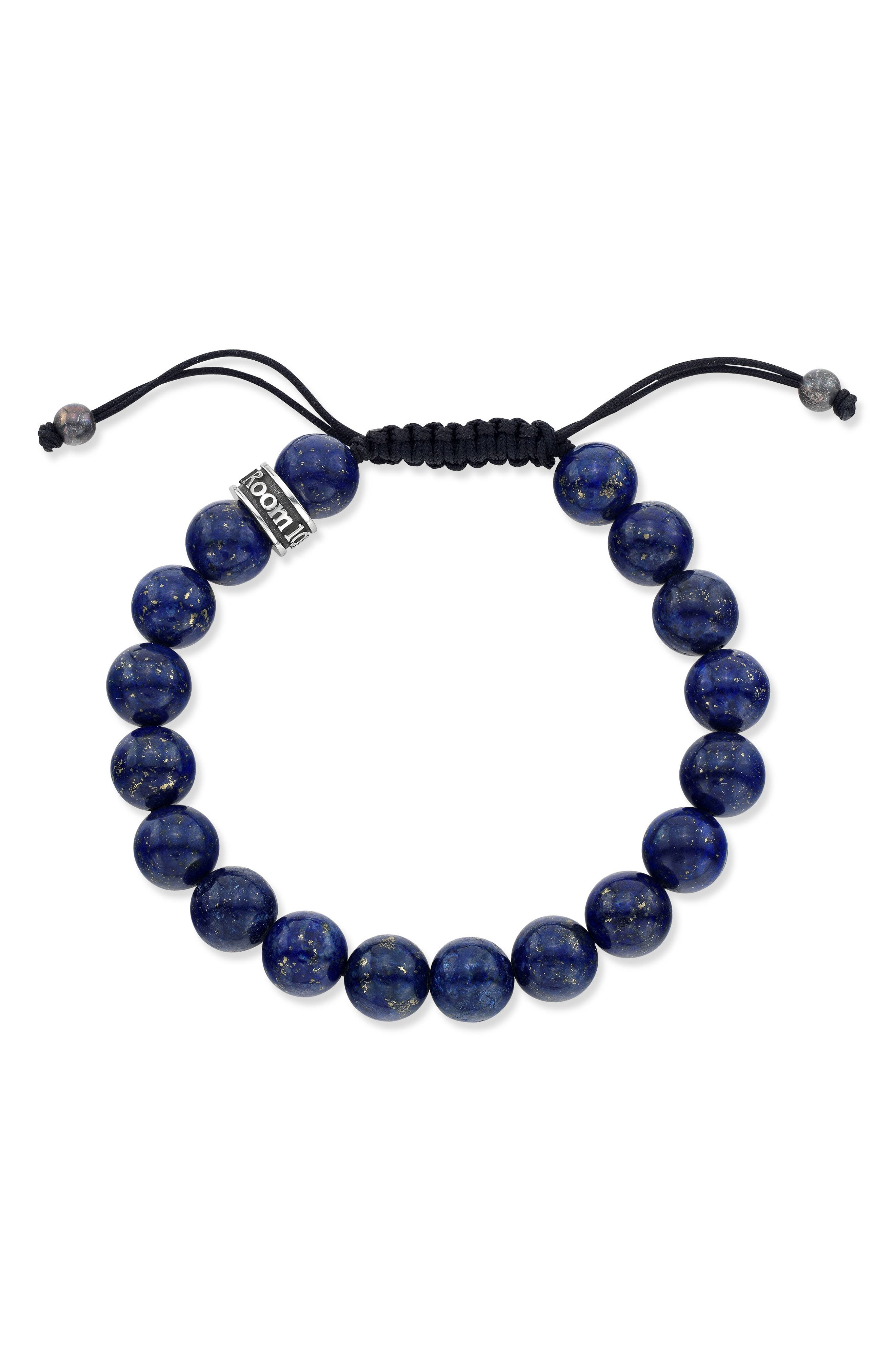 Lapis Lazuli Bead Shamballa Bracelet,                         Main,                         color,