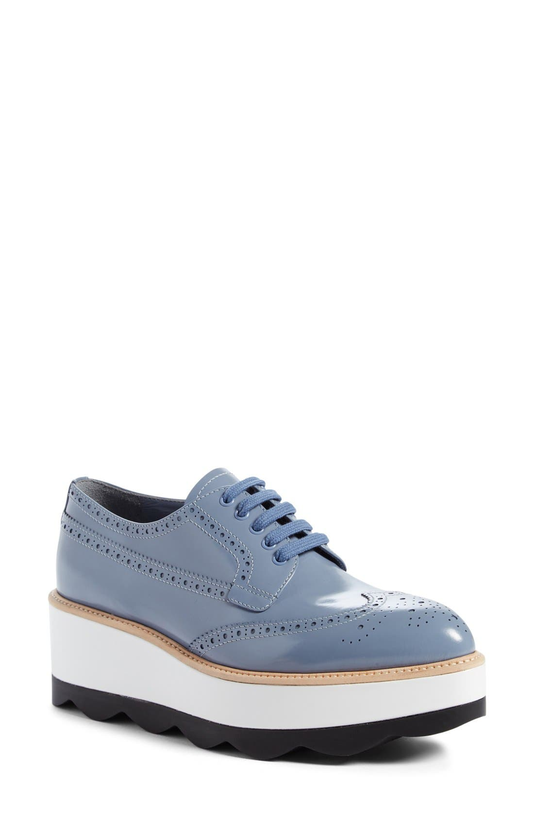 Scalloped Platform Oxford,                             Main thumbnail 7, color,