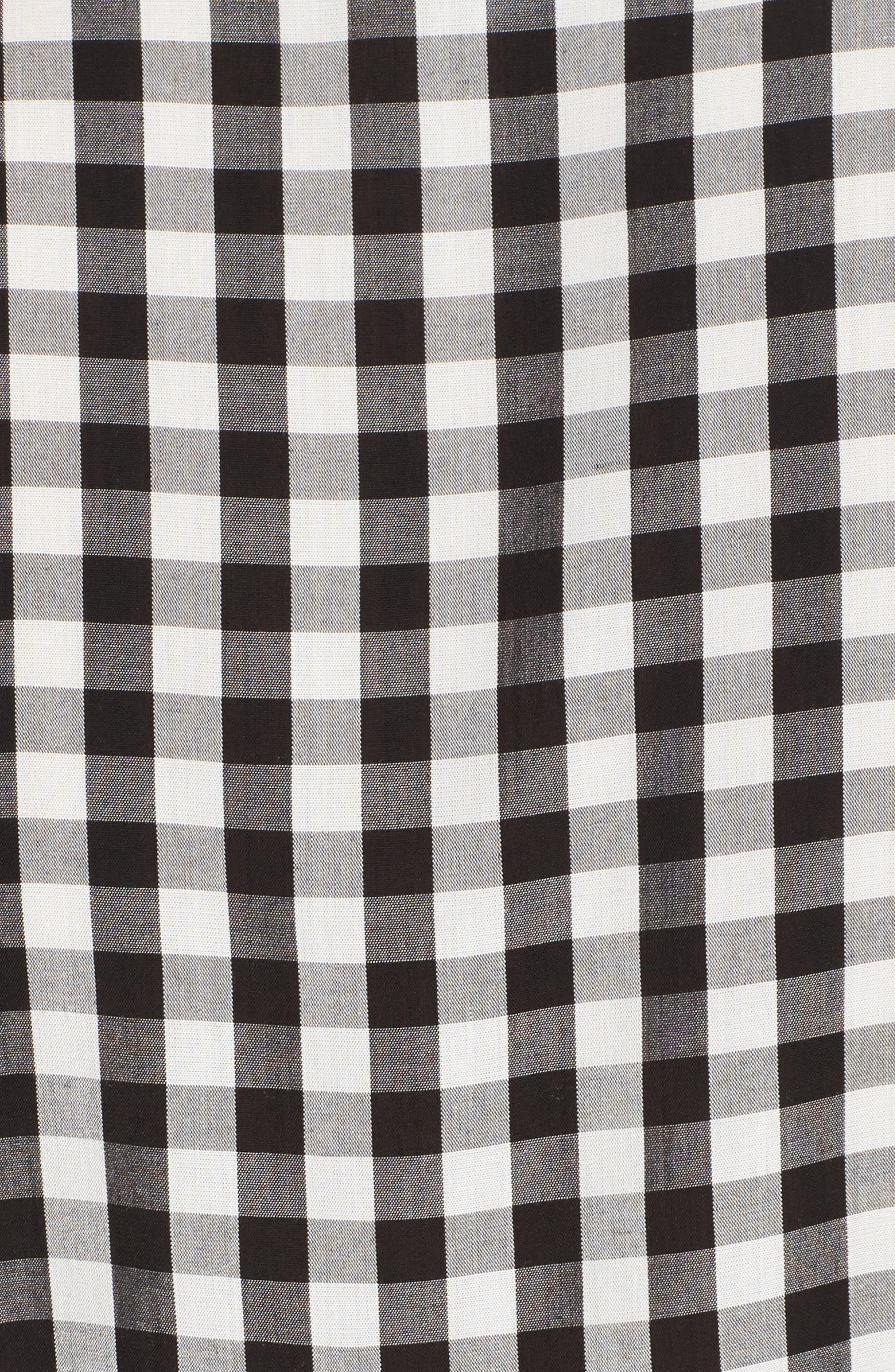 Ruffle Gingham Shirt,                             Alternate thumbnail 5, color,                             001