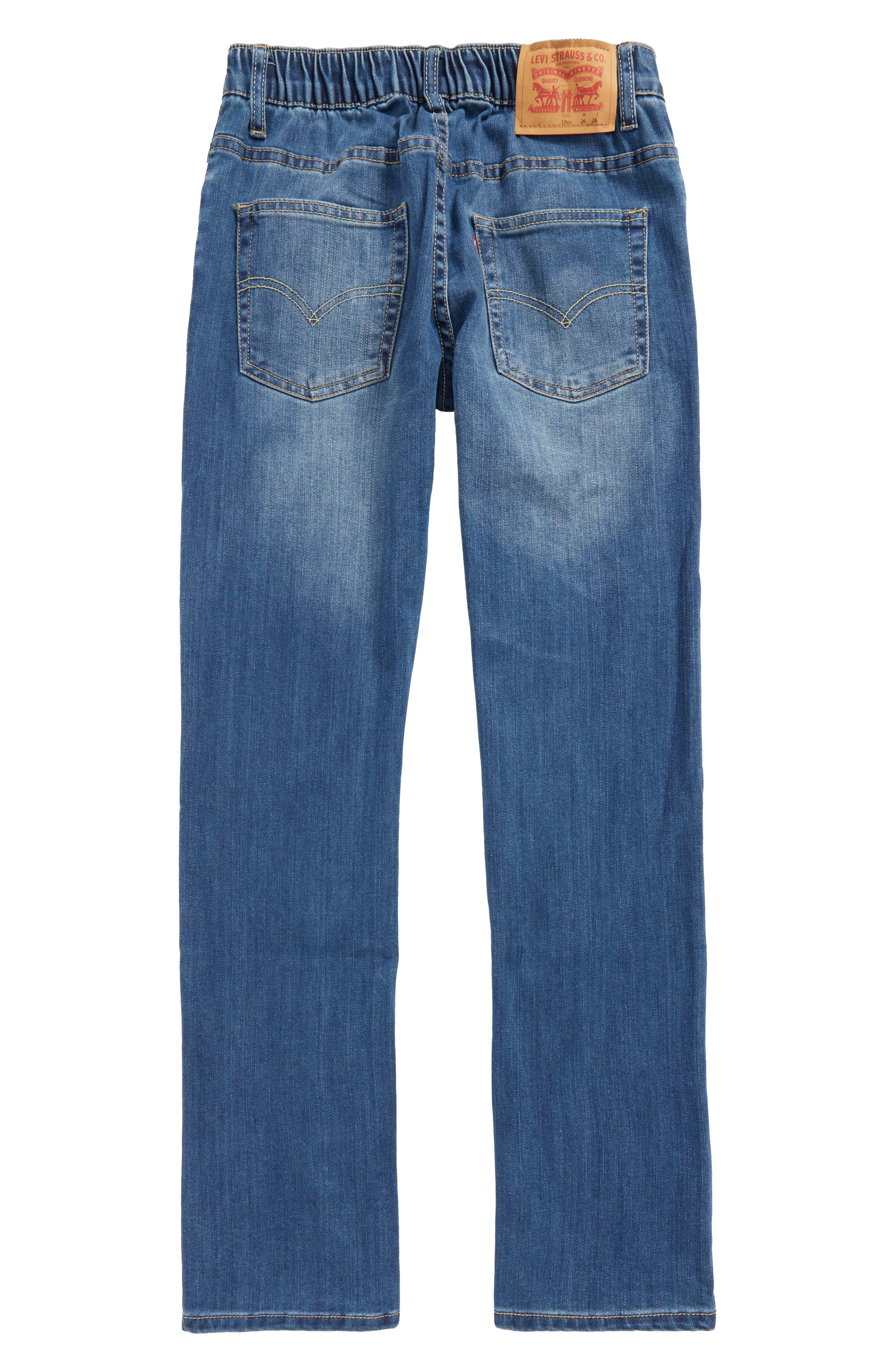 Comfort Slim Fit Straight Leg Jeans,                             Alternate thumbnail 6, color,