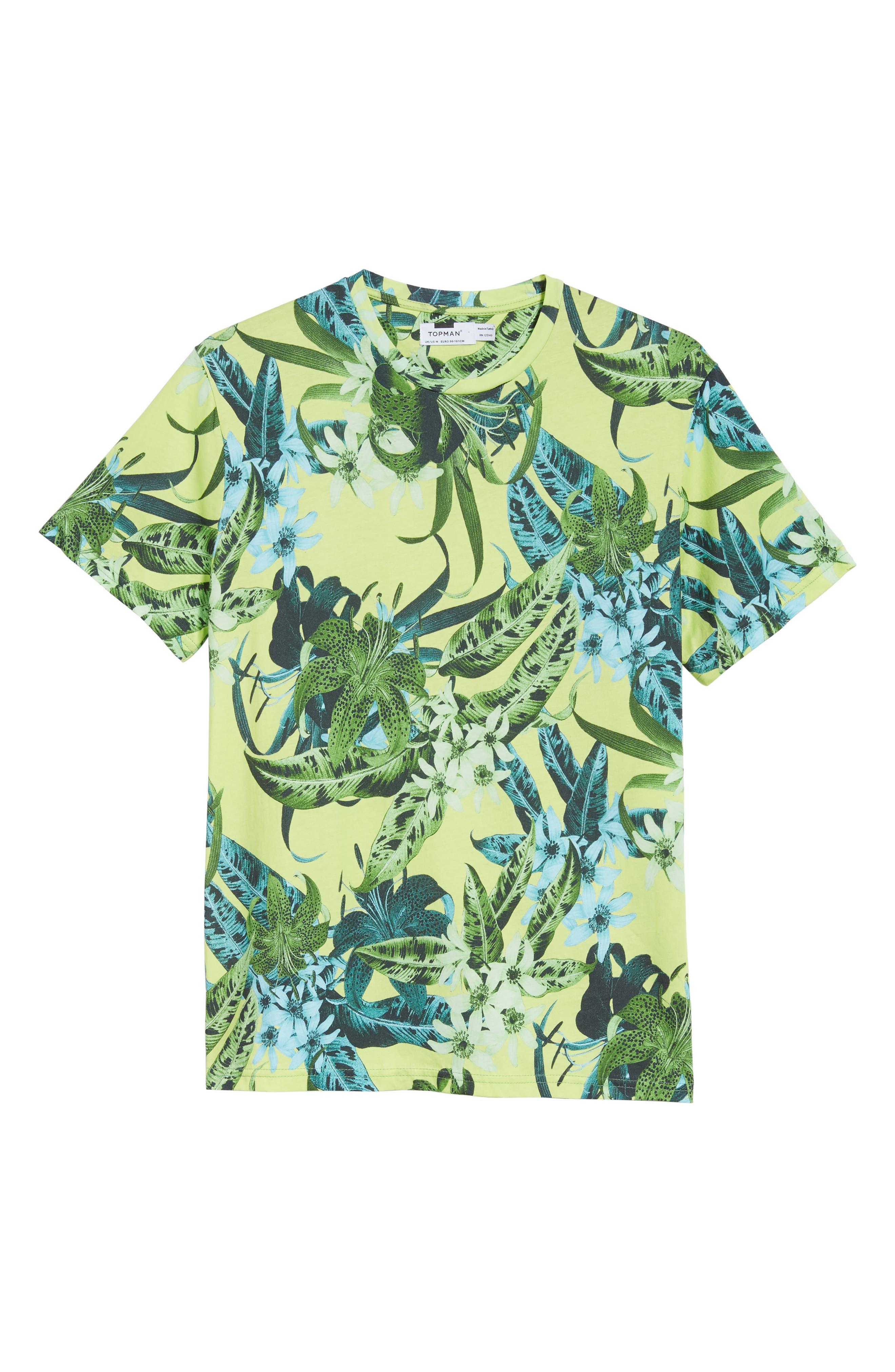 Classic Floral Shirt,                             Alternate thumbnail 6, color,                             GREEN