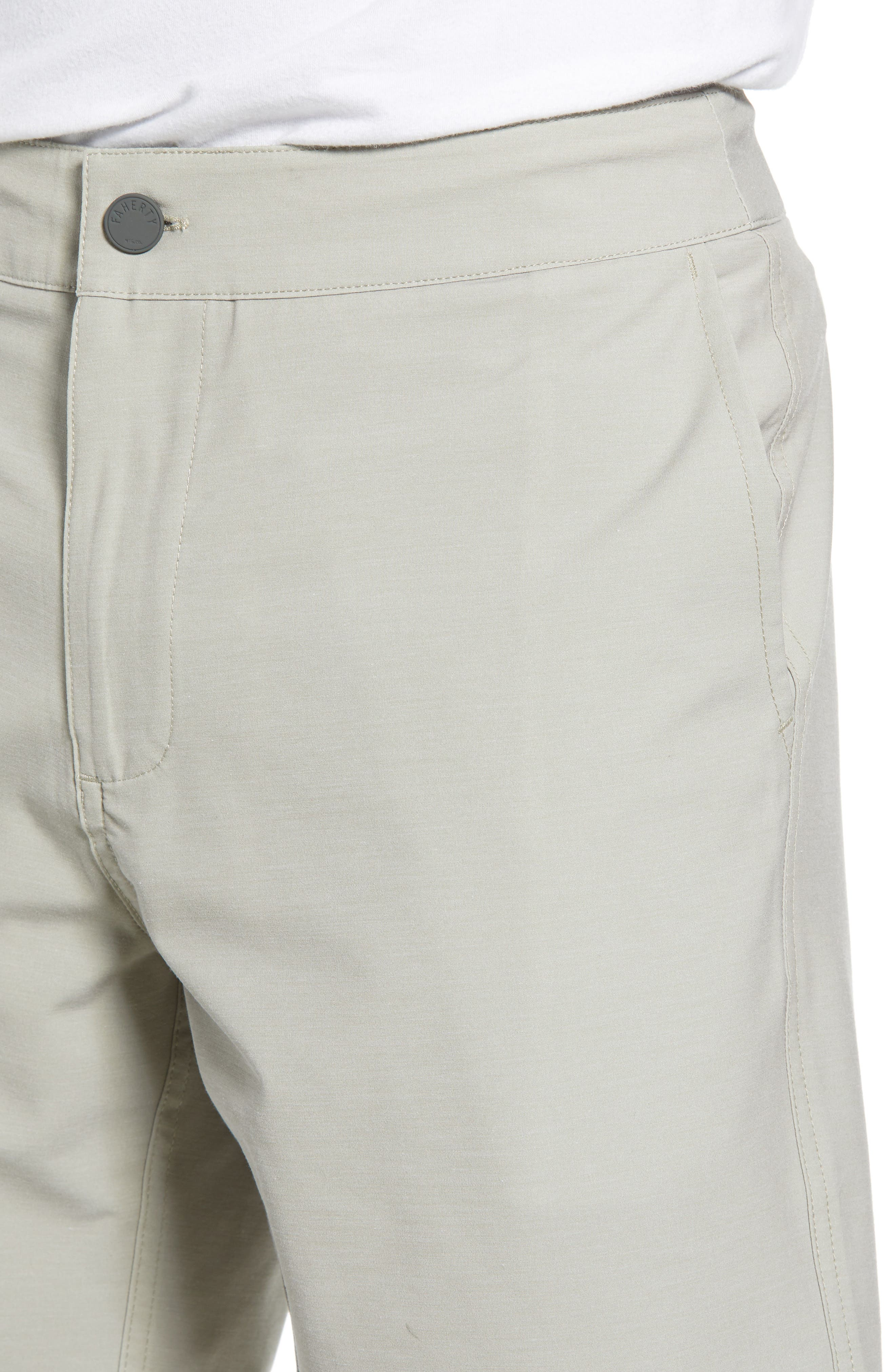 FAHERTY,                             All Day Flat Front Shorts,                             Alternate thumbnail 4, color,                             KHAKI