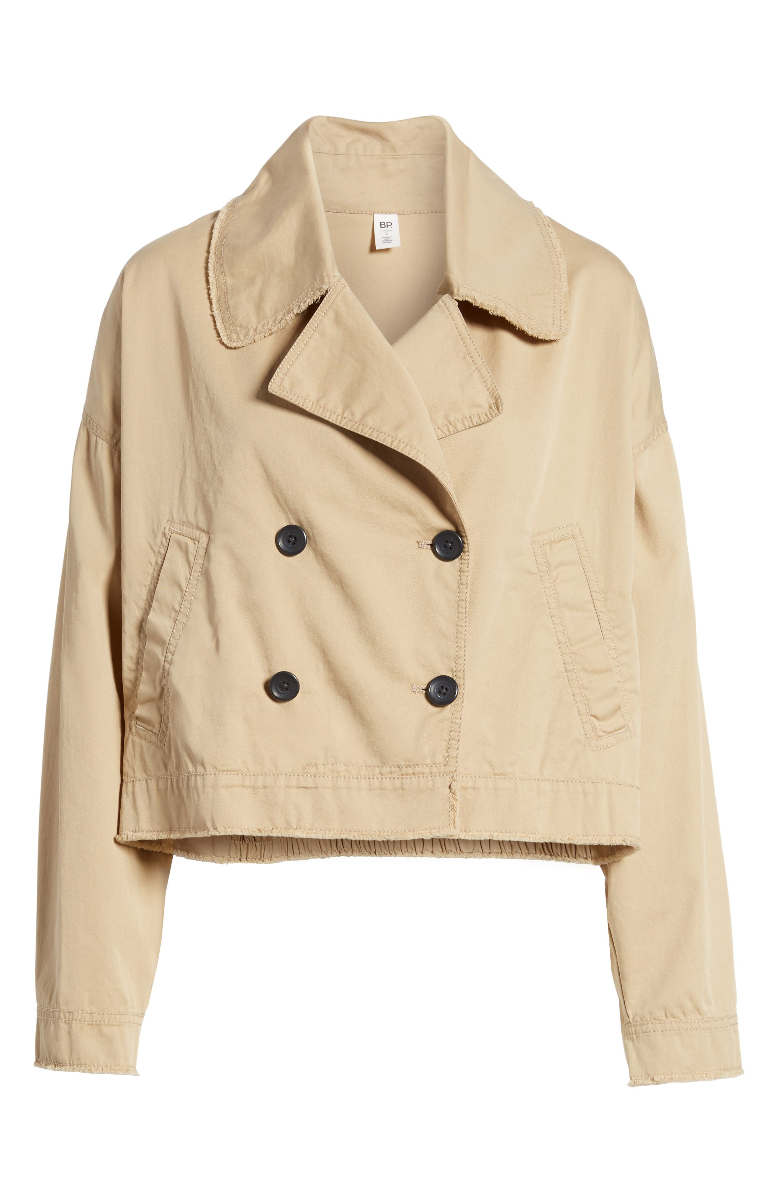 Crop Trench Coat,                             Alternate thumbnail 5, color,                             260