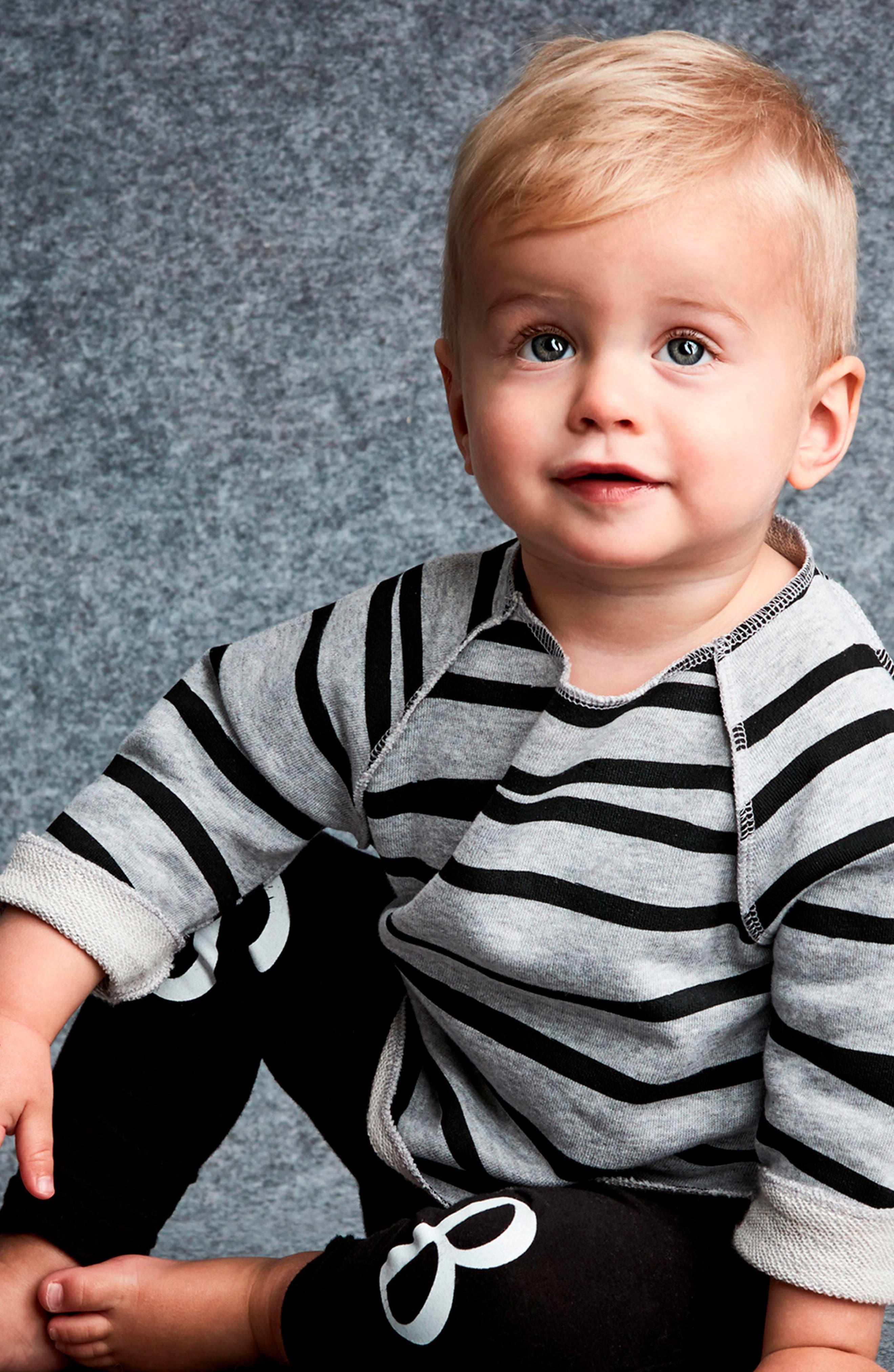 Relaxed Stripe Sweatshirt,                             Alternate thumbnail 4, color,