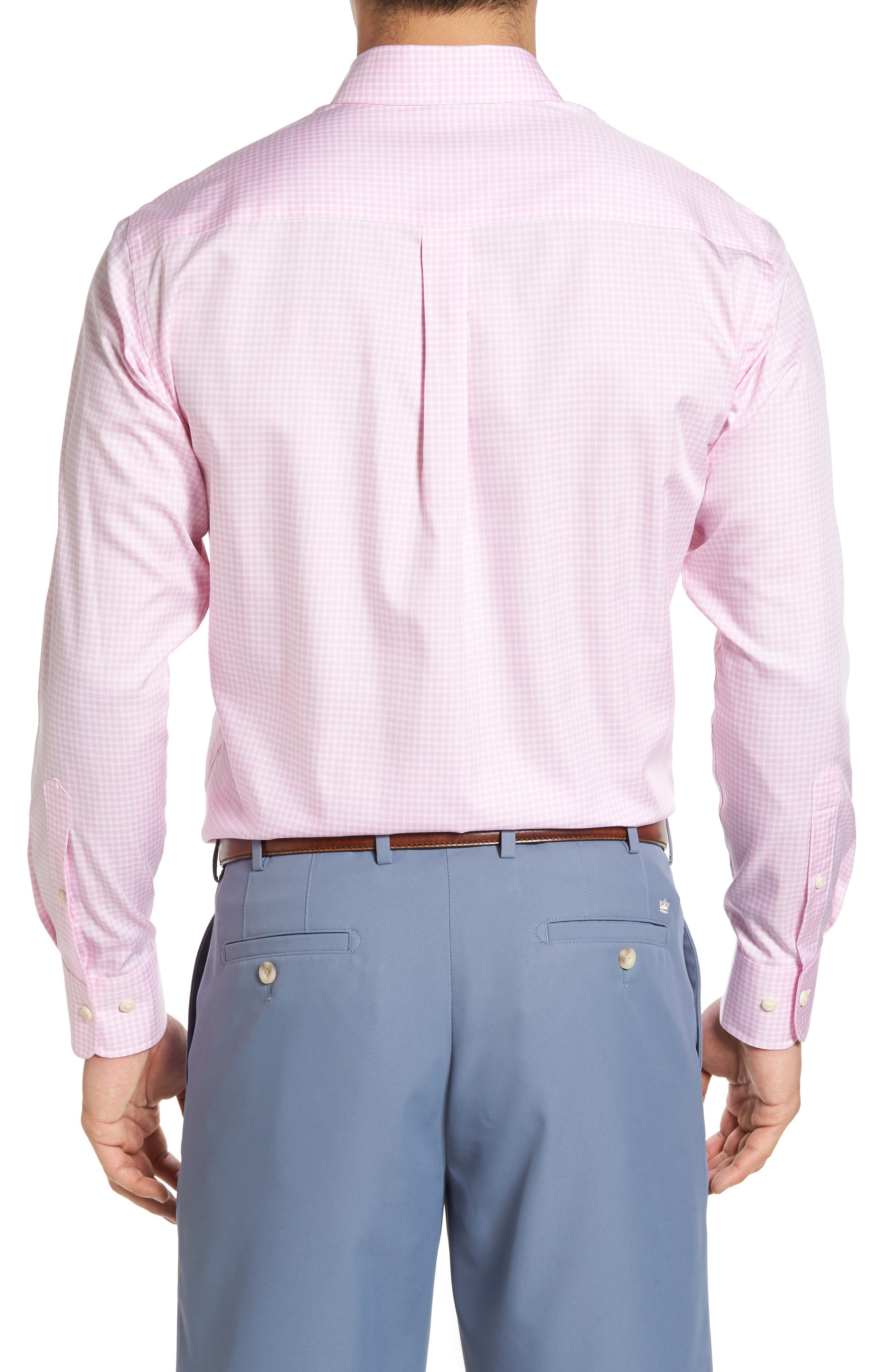 Crown Soft Gingham Regular Fit Sport Shirt,                             Alternate thumbnail 13, color,