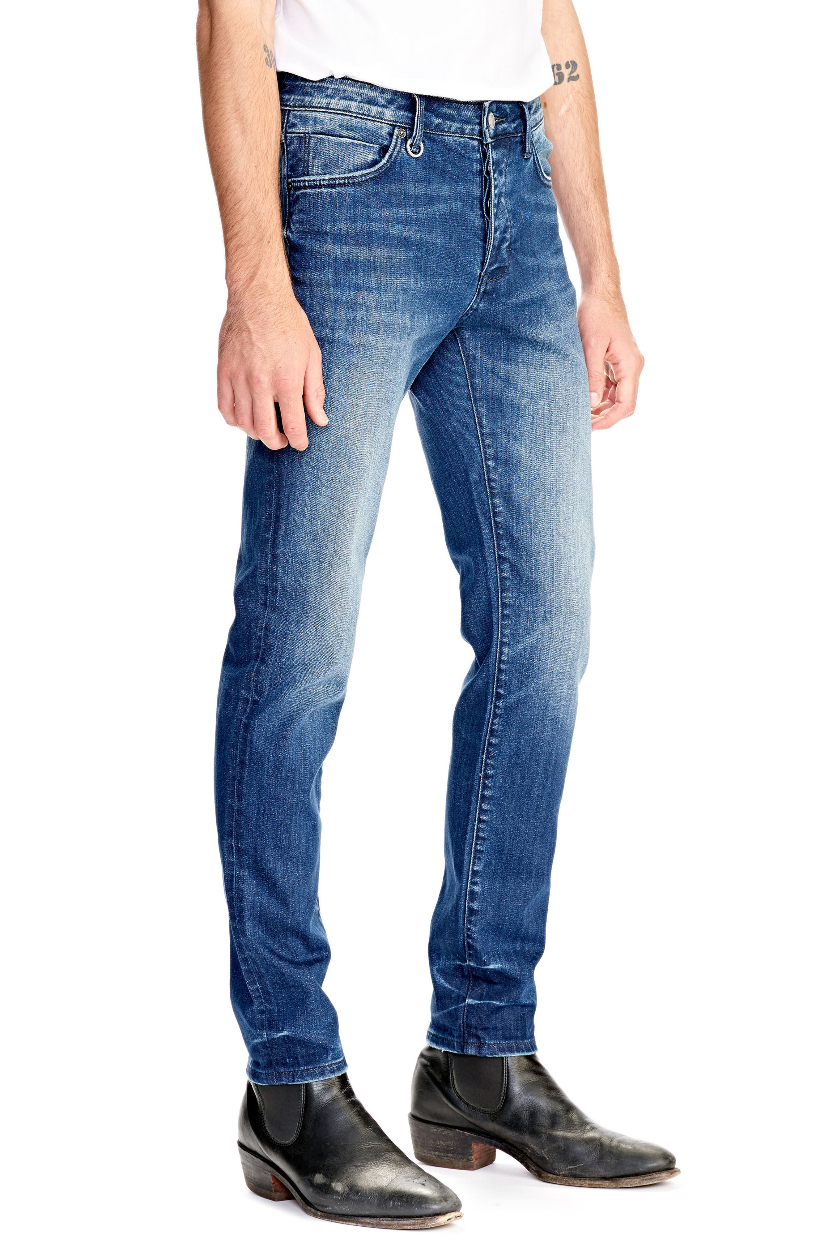 Iggy Skinny Fit Jeans,                             Alternate thumbnail 3, color,                             ABNEY PARK