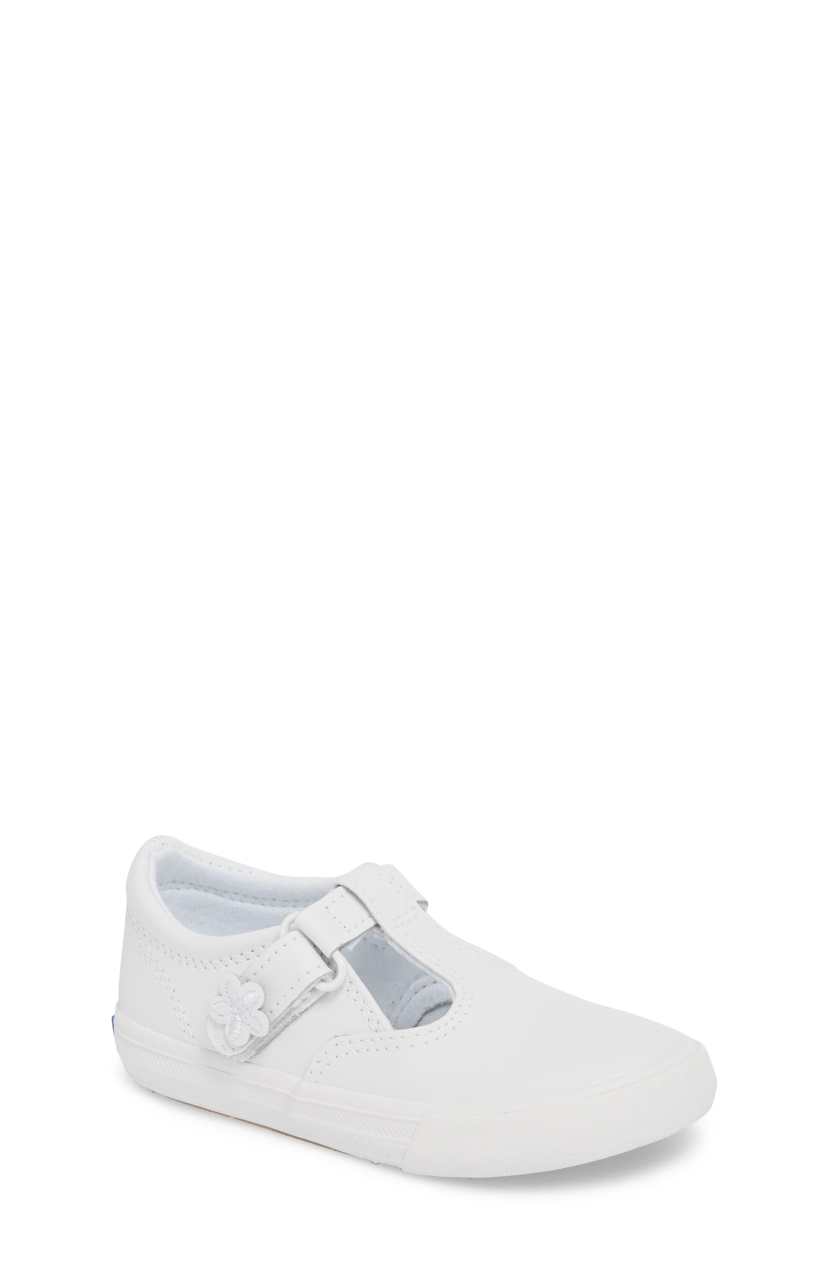Infant Girls Keds Daphne TStrap Sneaker Size 4 M  White