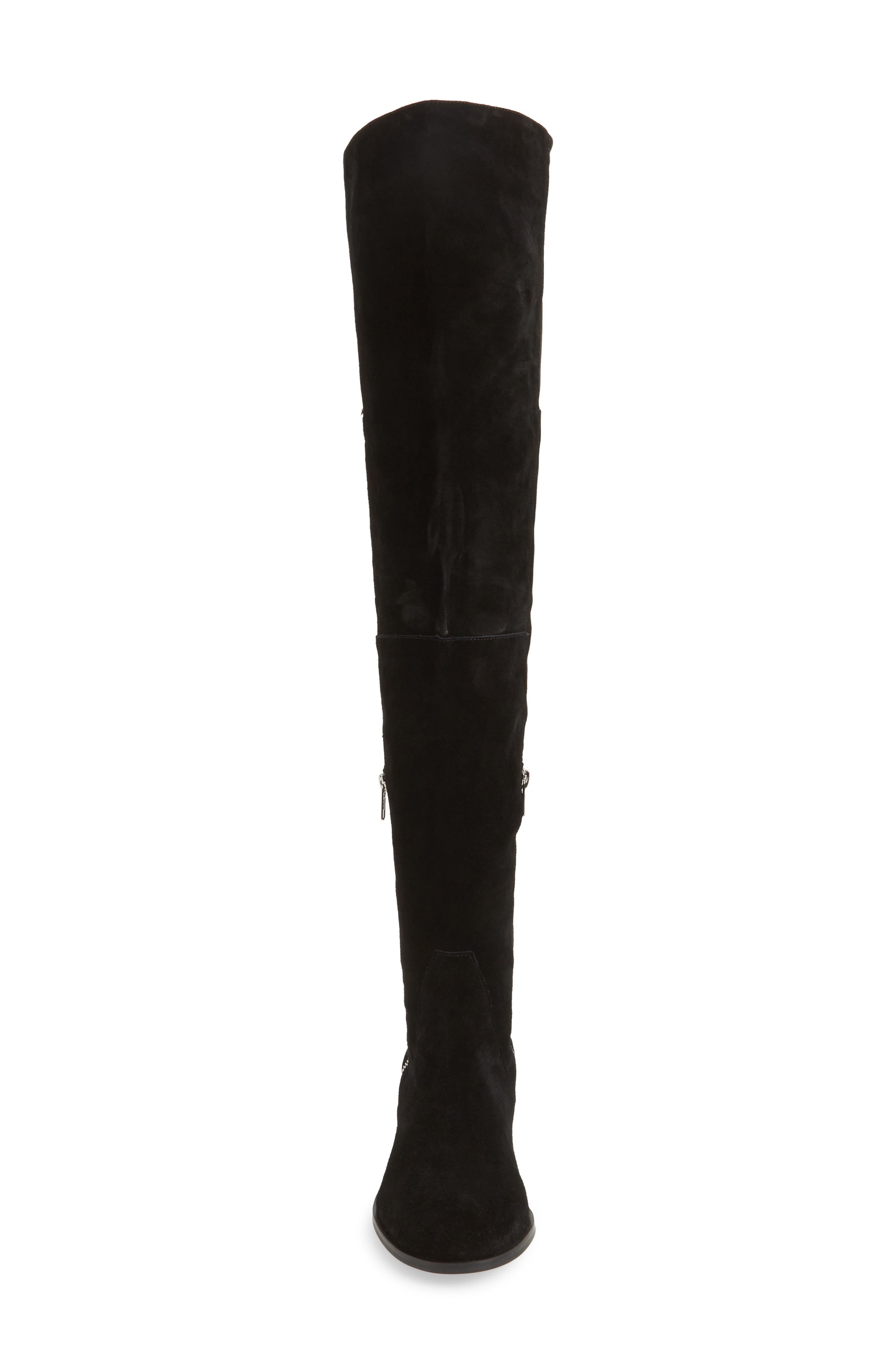 Everly Thigh High Boot,                             Alternate thumbnail 4, color,                             001