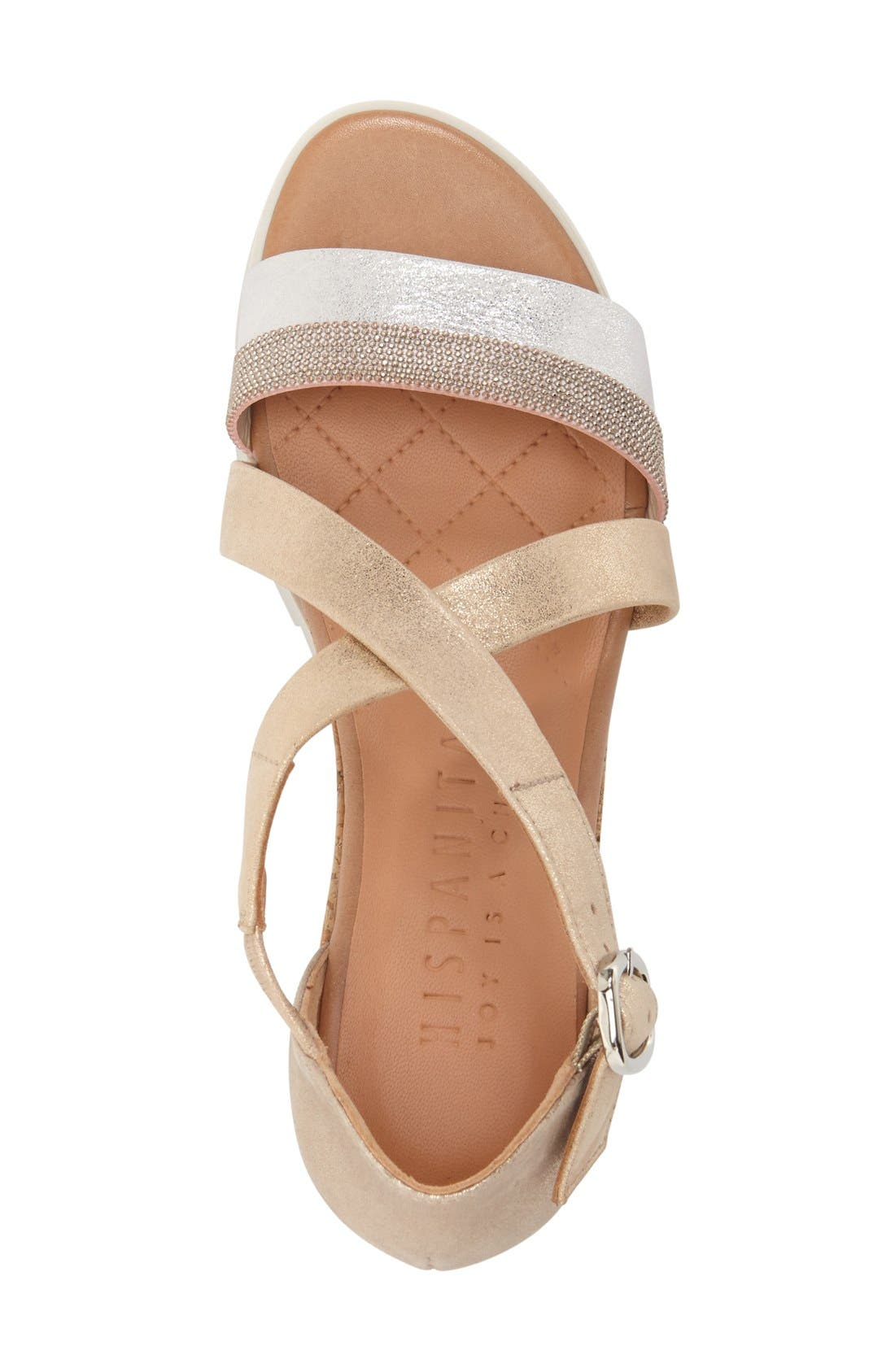 'Kennedi' Wedge Sandal,                             Alternate thumbnail 5, color,