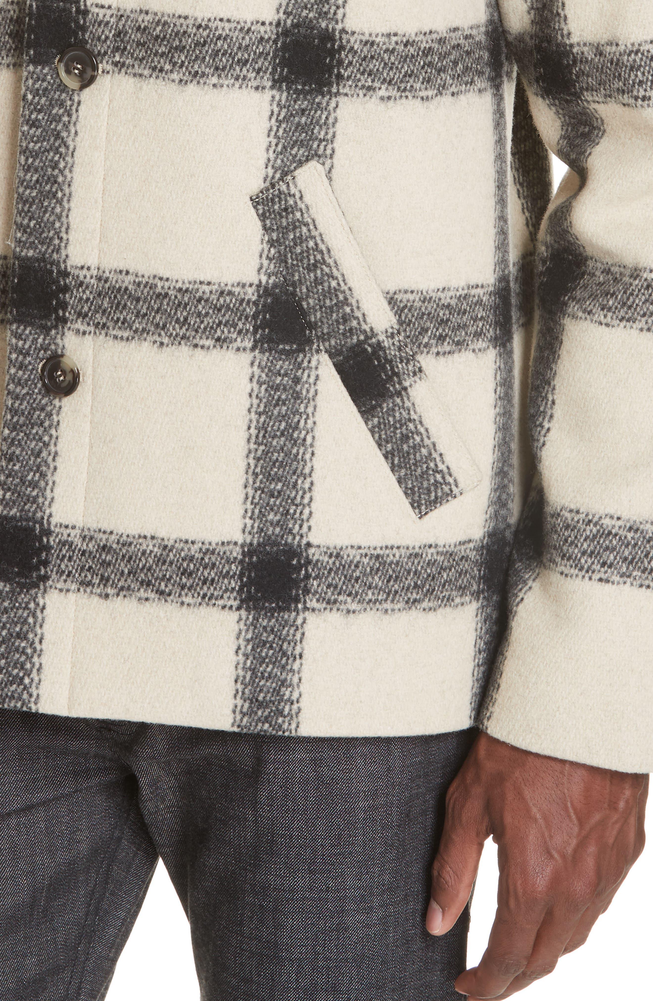 A.P.C.,                             Veste Vancouver Wool Flannel Jacket,                             Alternate thumbnail 4, color,                             ECRU AAD