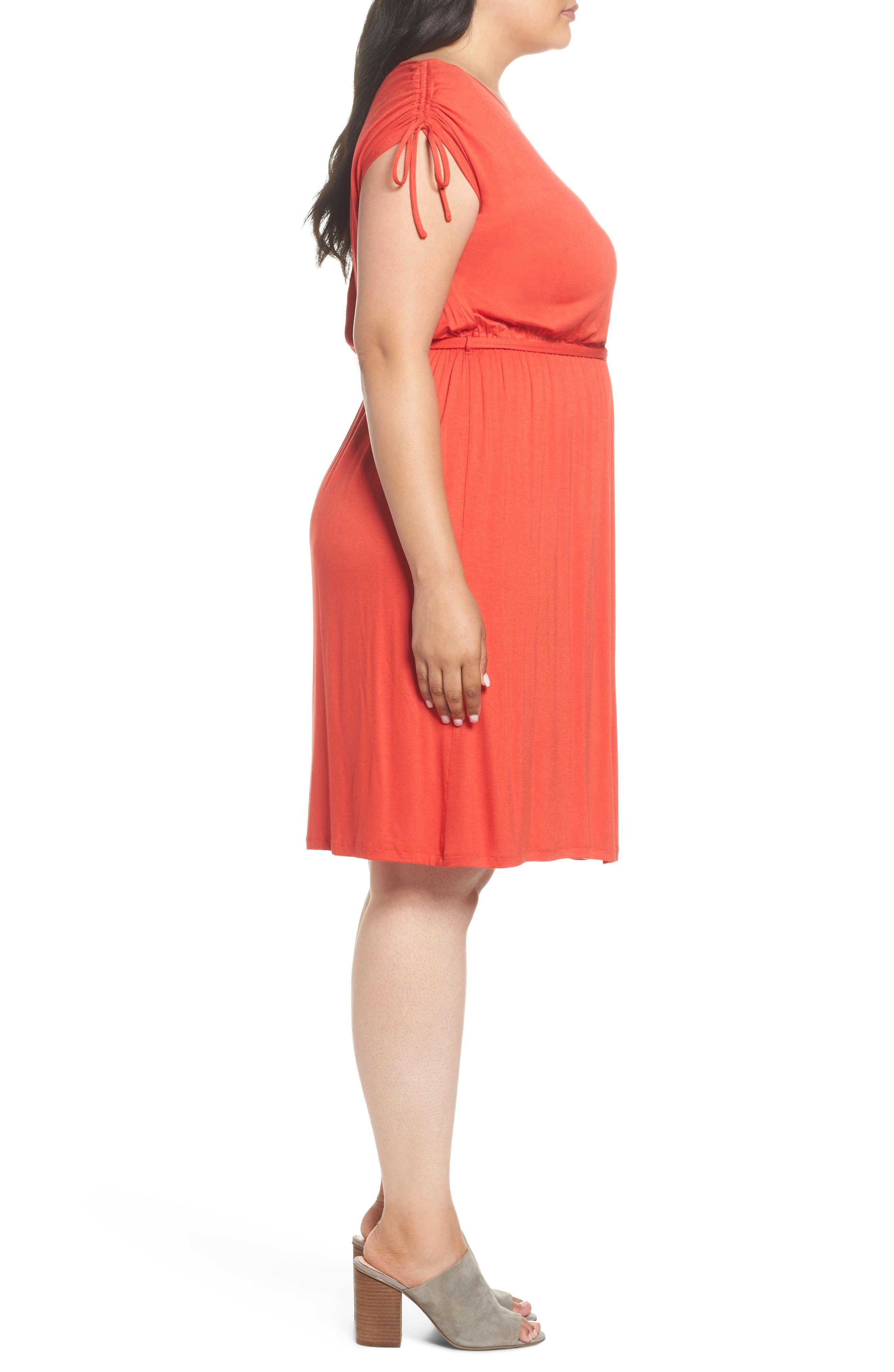 Jersey A-Line Dress,                             Alternate thumbnail 3, color,                             950