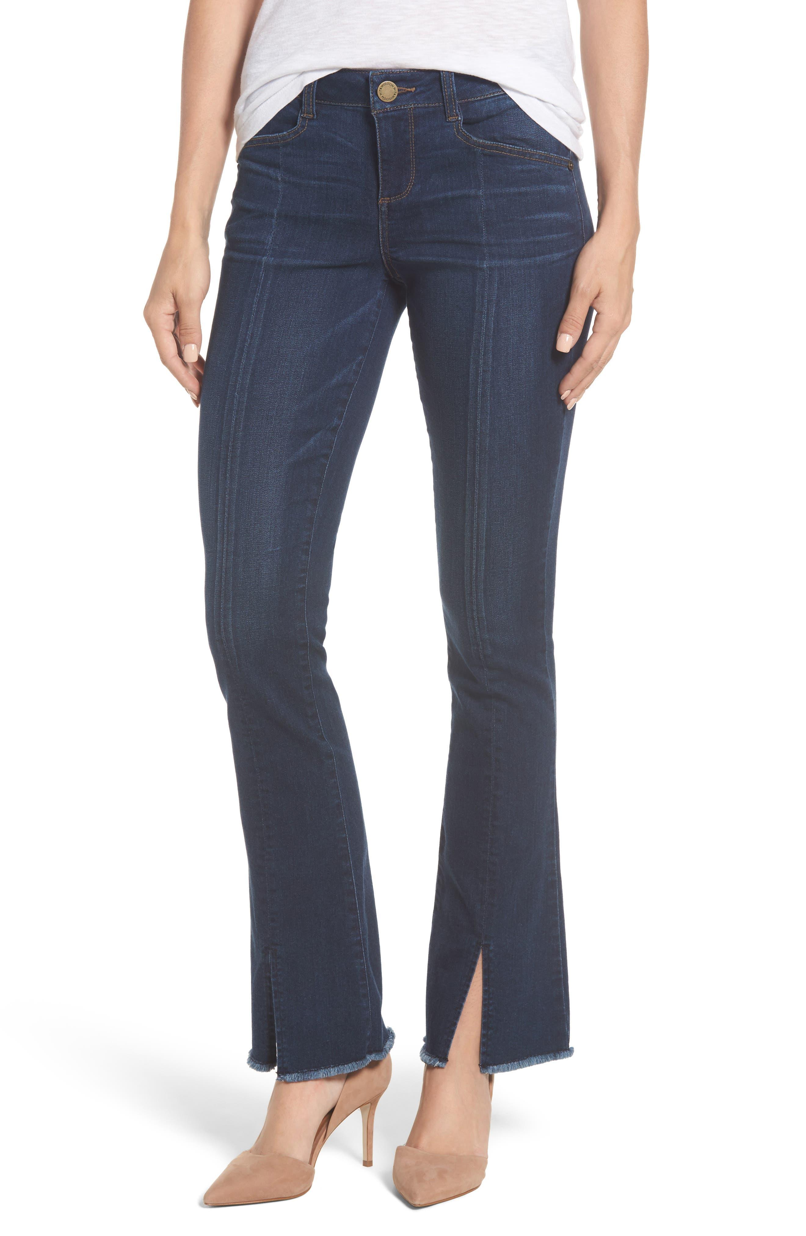 Itty Bitty Split Hem Bootcut Jeans,                             Main thumbnail 1, color,                             420