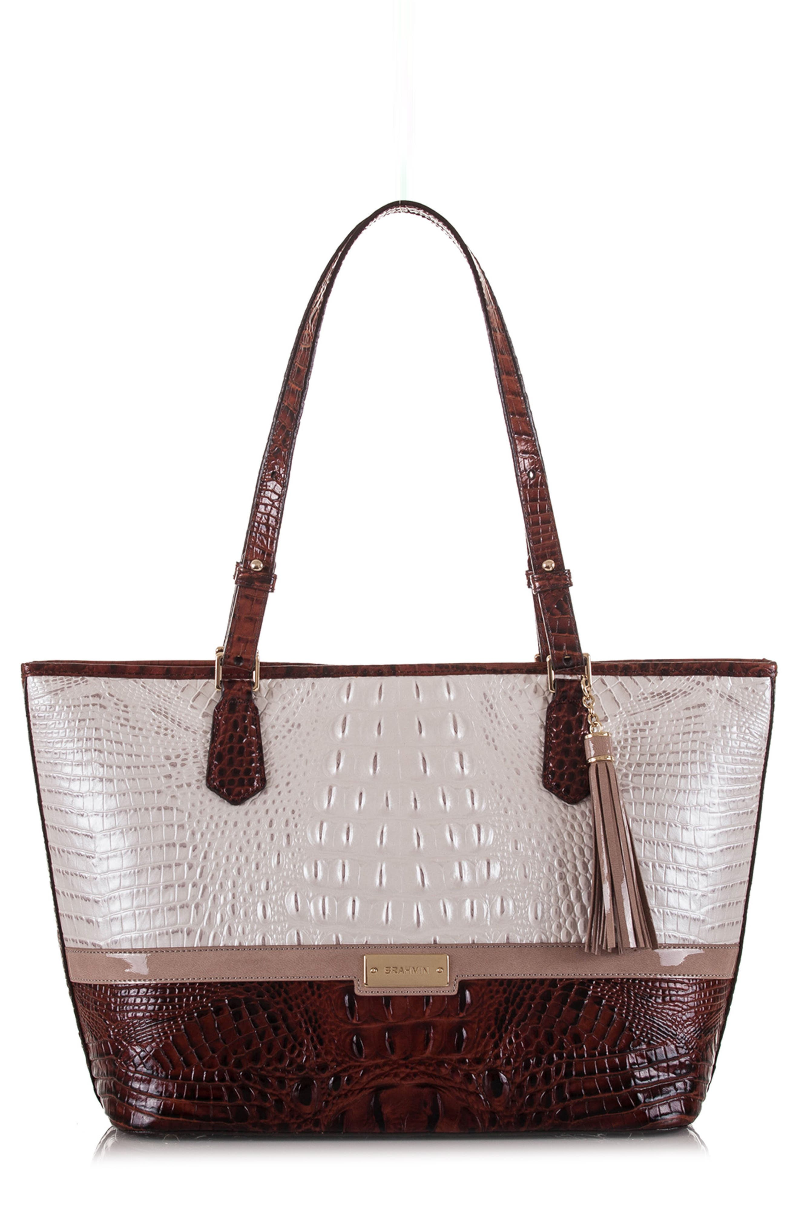 Medium Durance - Asher Croc Embossed Leather Tote,                             Main thumbnail 1, color,