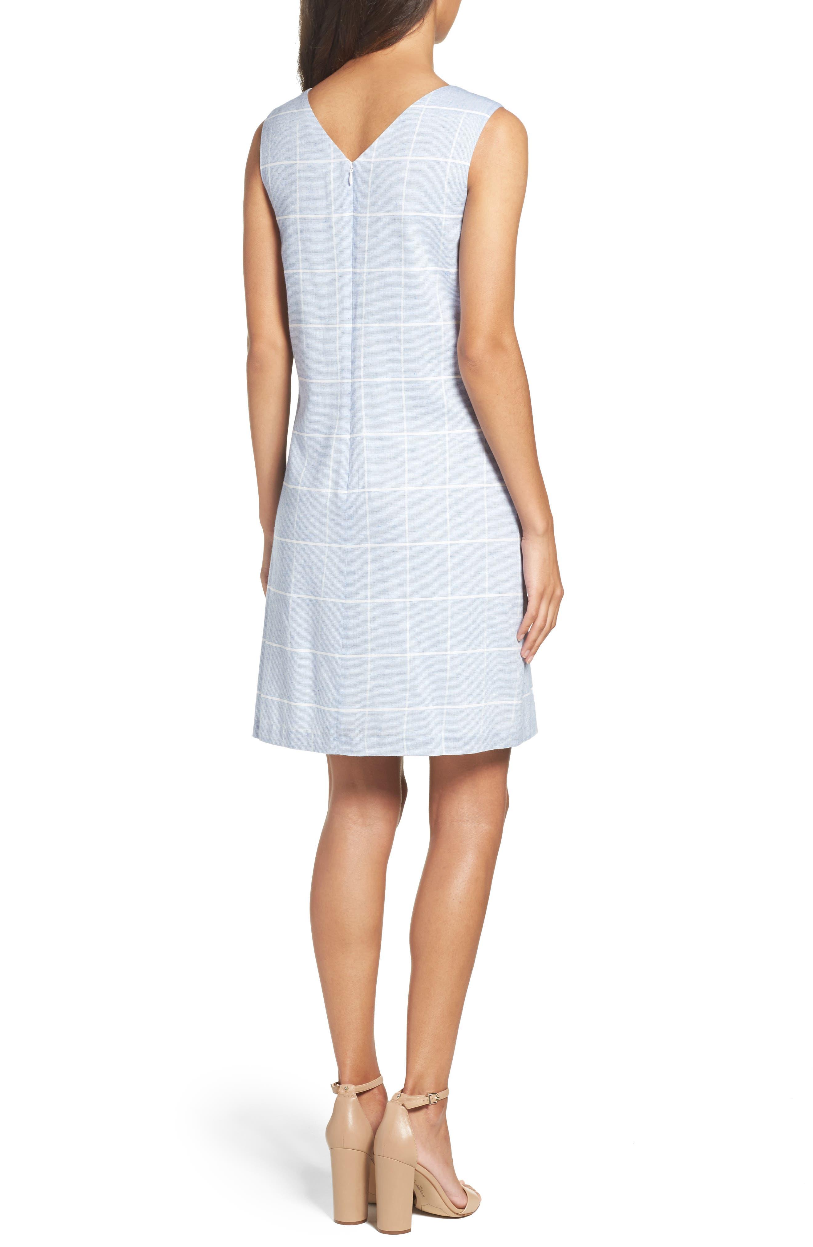 Cotton A-Line Dress,                             Alternate thumbnail 2, color,                             413
