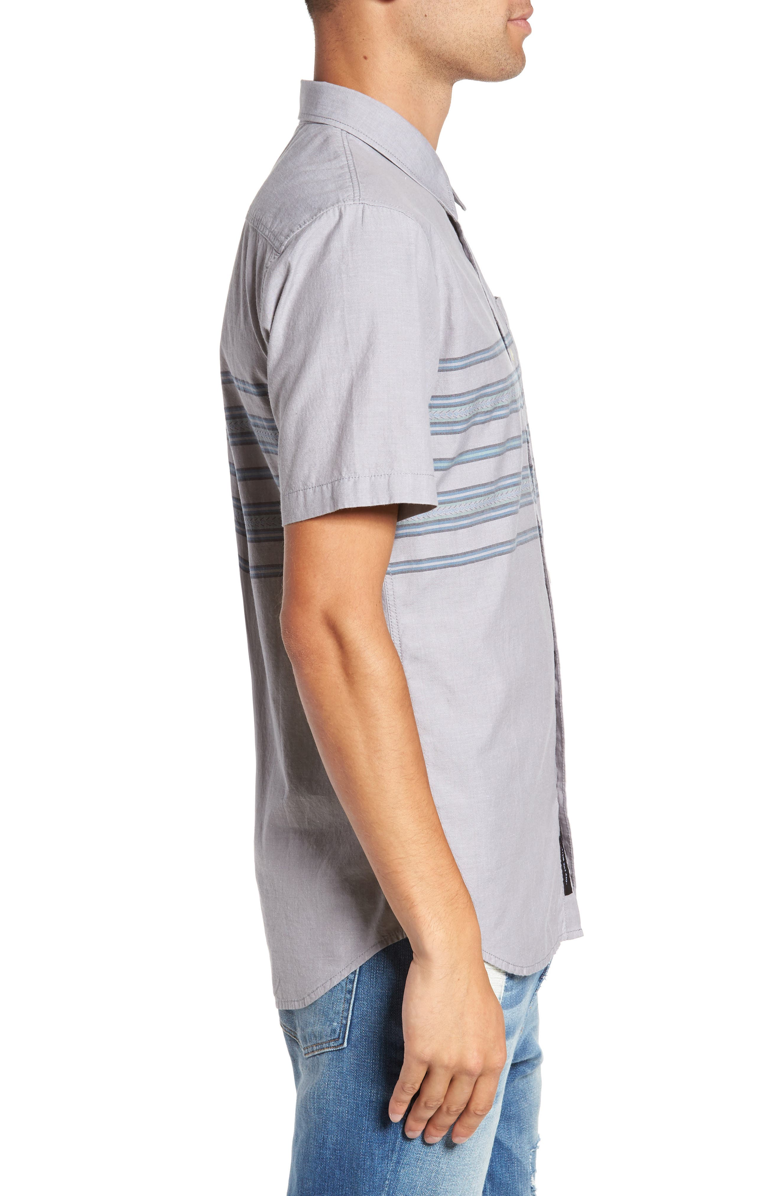 Benmore Striped Woven Shirt,                             Alternate thumbnail 3, color,                             021