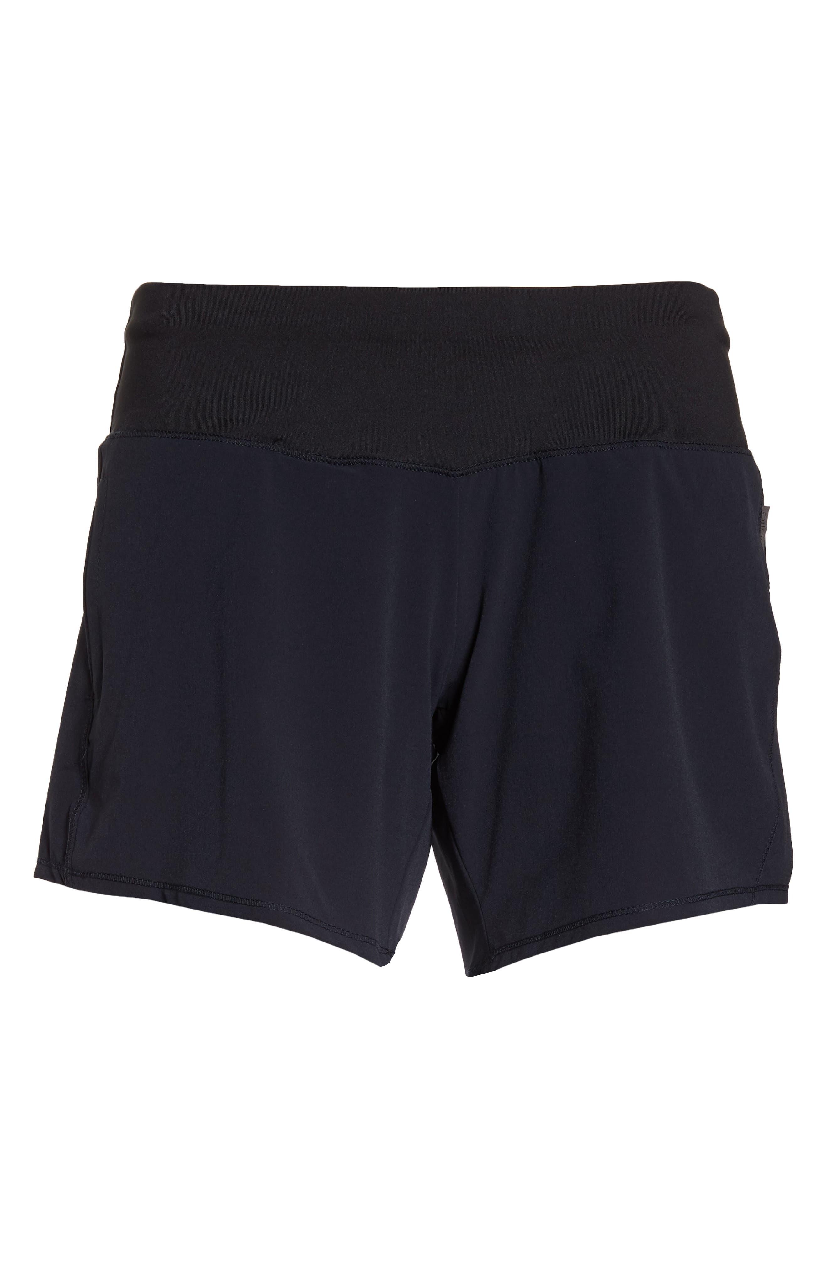 Long Roga Shorts,                             Alternate thumbnail 7, color,                             BLACK
