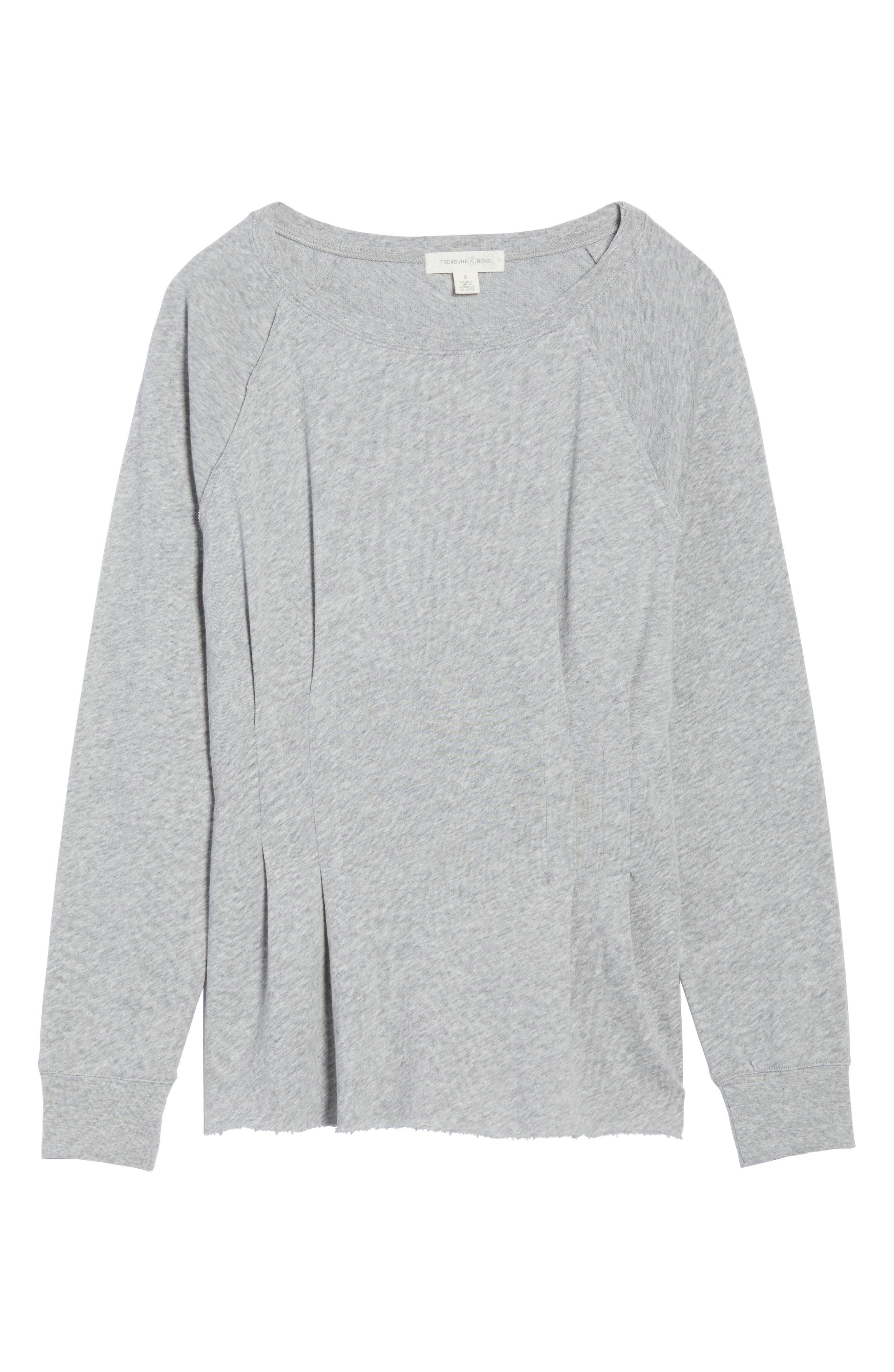 Cinch Waist Sweatshirt,                             Alternate thumbnail 6, color,                             020