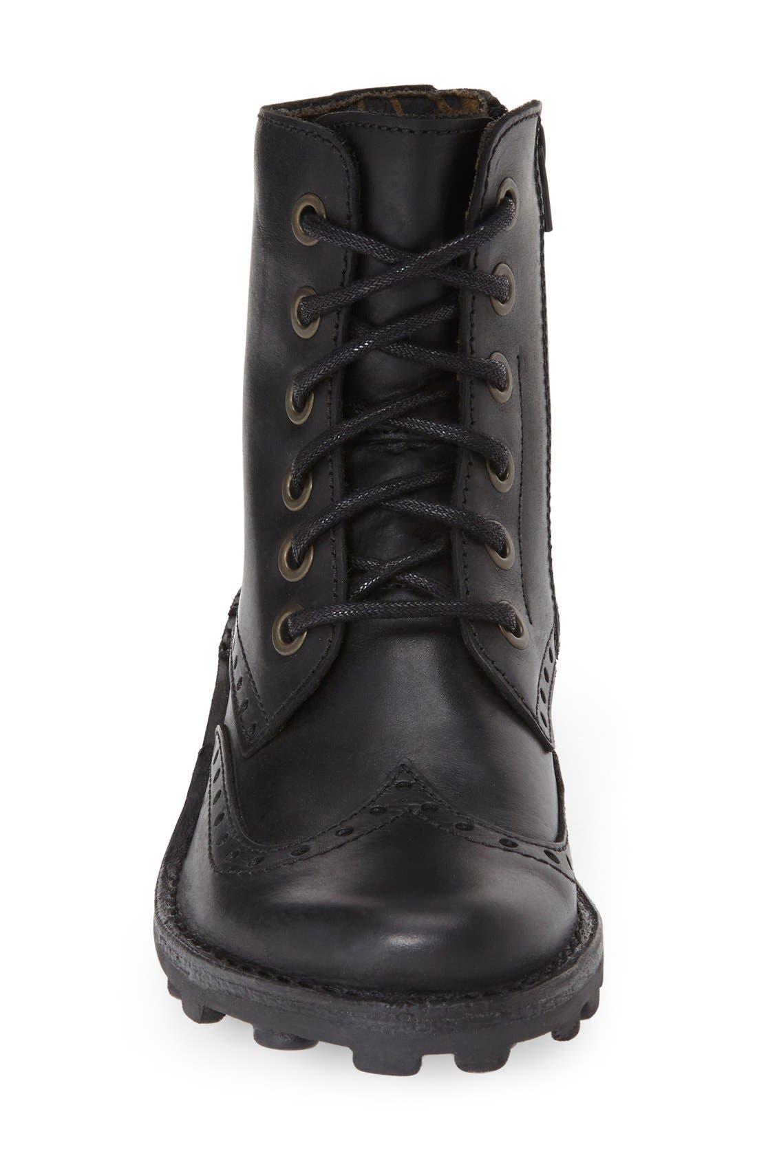 'Marl' Wedge Boot,                             Alternate thumbnail 2, color,                             001