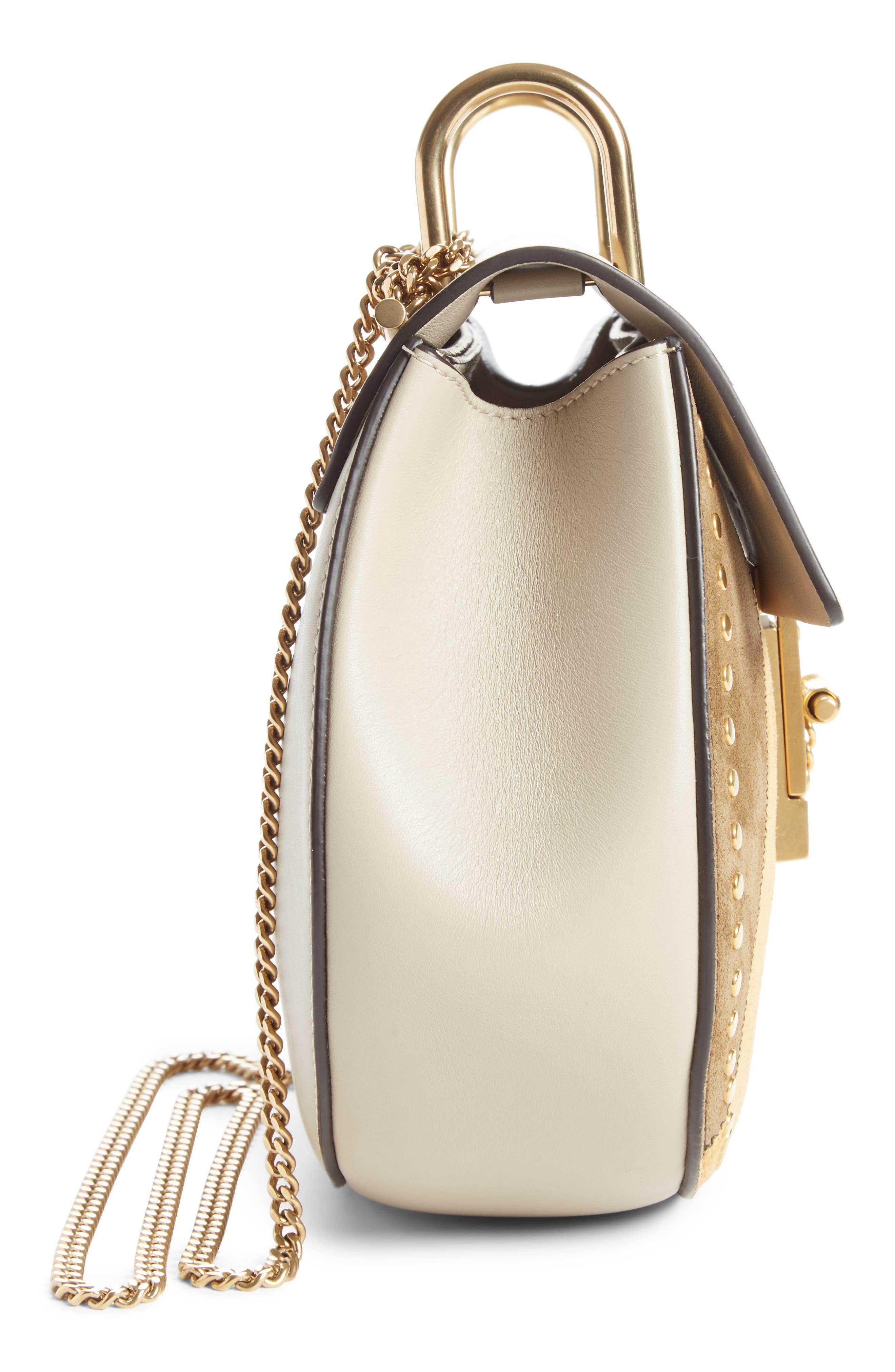 Small Drew Leather Shoulder Bag,                             Alternate thumbnail 4, color,                             052