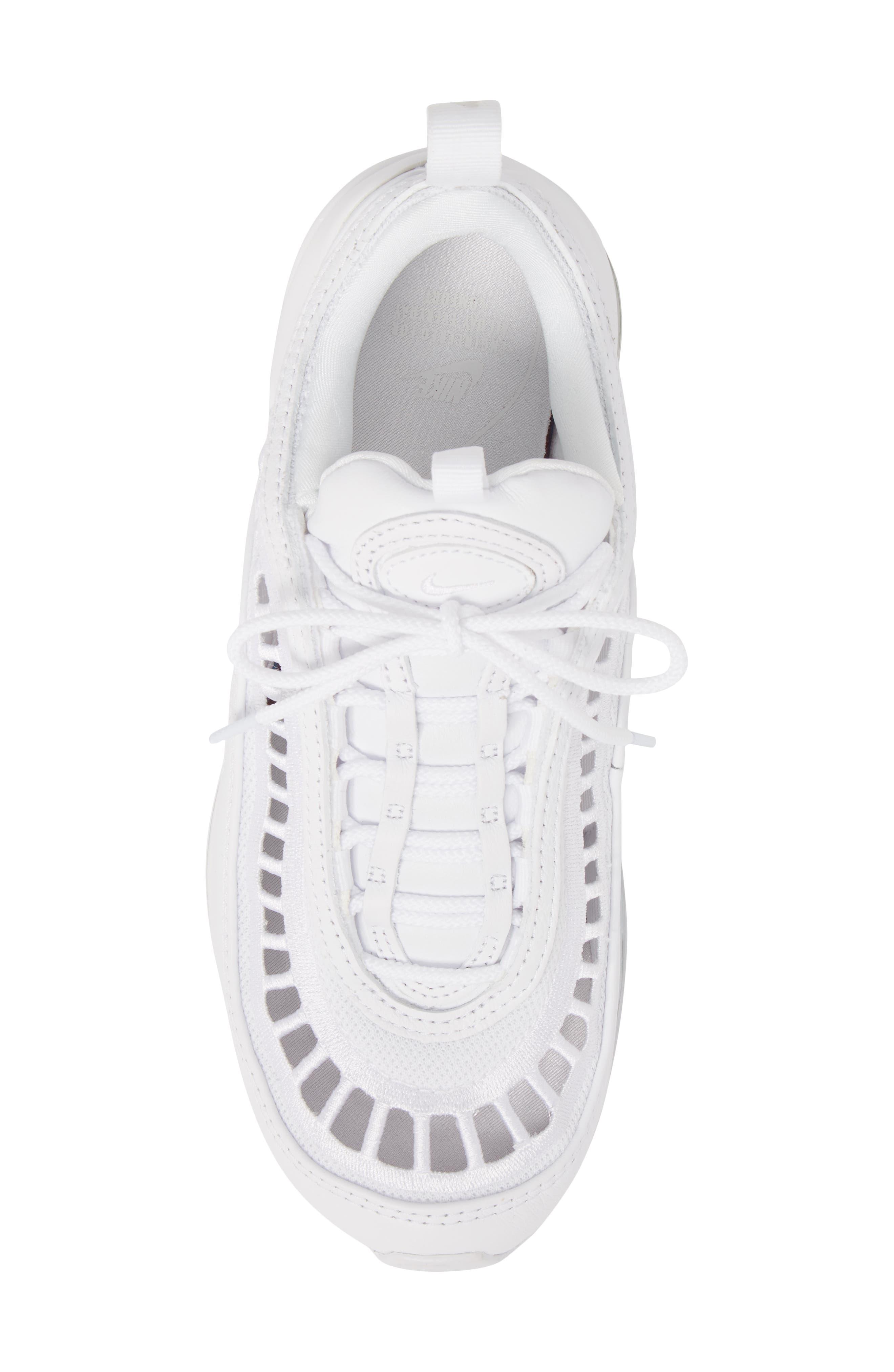 Air Max 97 Ultra '17 SI Sneaker,                             Alternate thumbnail 5, color,                             WHITE/ WHITE/ VAST GREY