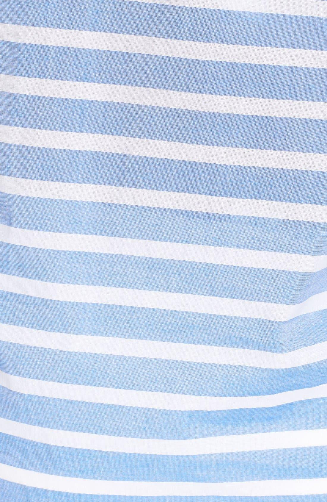 Brenton Stripe Boyfriend Shirt Cover-Up,                             Alternate thumbnail 22, color,